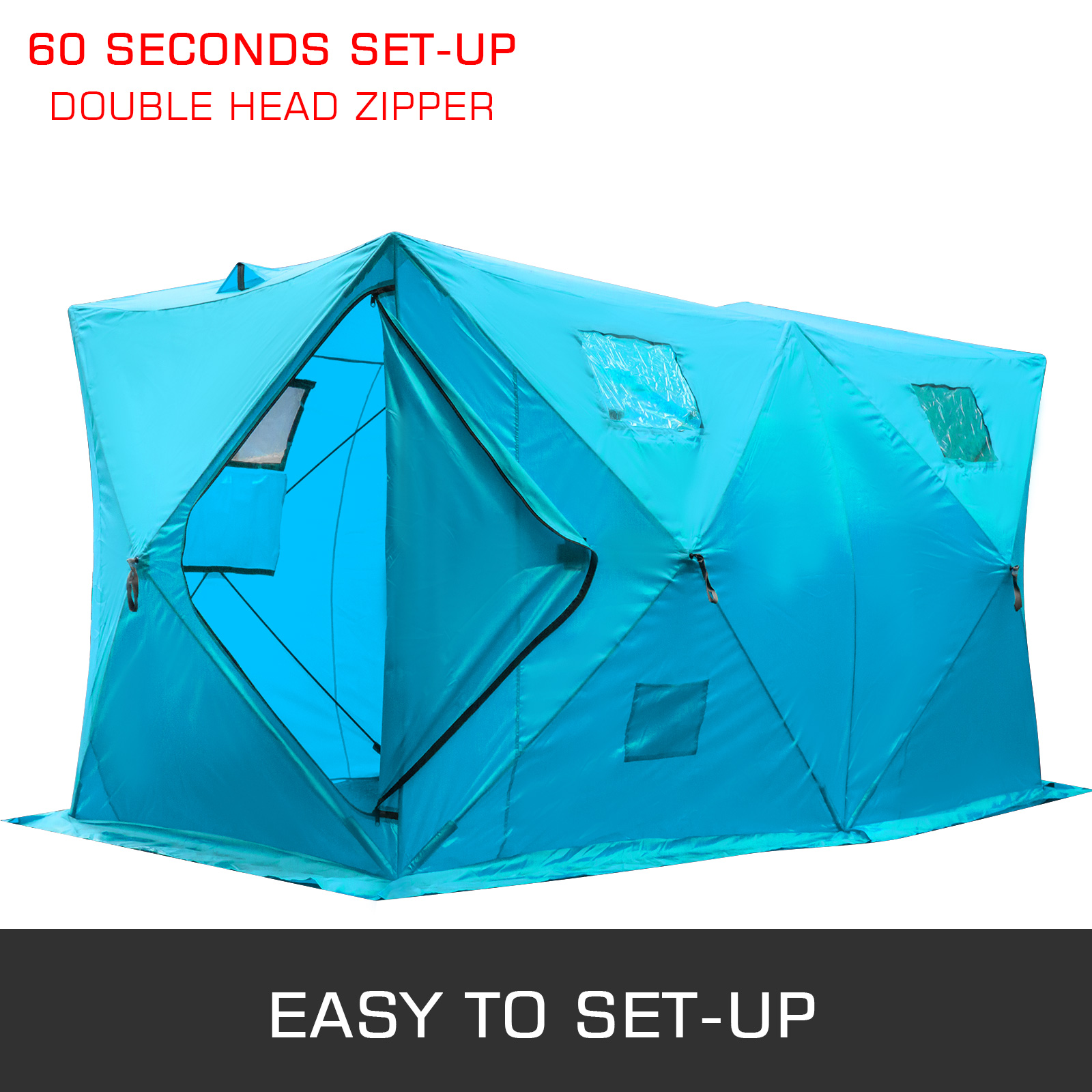2-Person Waterproof Shelter Instant Pop Up Tent Camping Ice Fishing Privacy Room