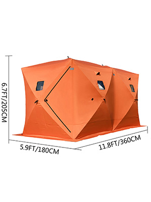 Ice Shelter 8-person Fishing Tent Shanty 210D Oxford Fabric Thick cotton