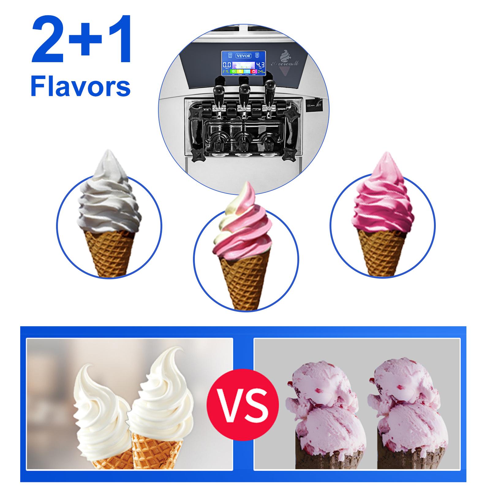 ice cream machine,3 flavors,20-30 L/H