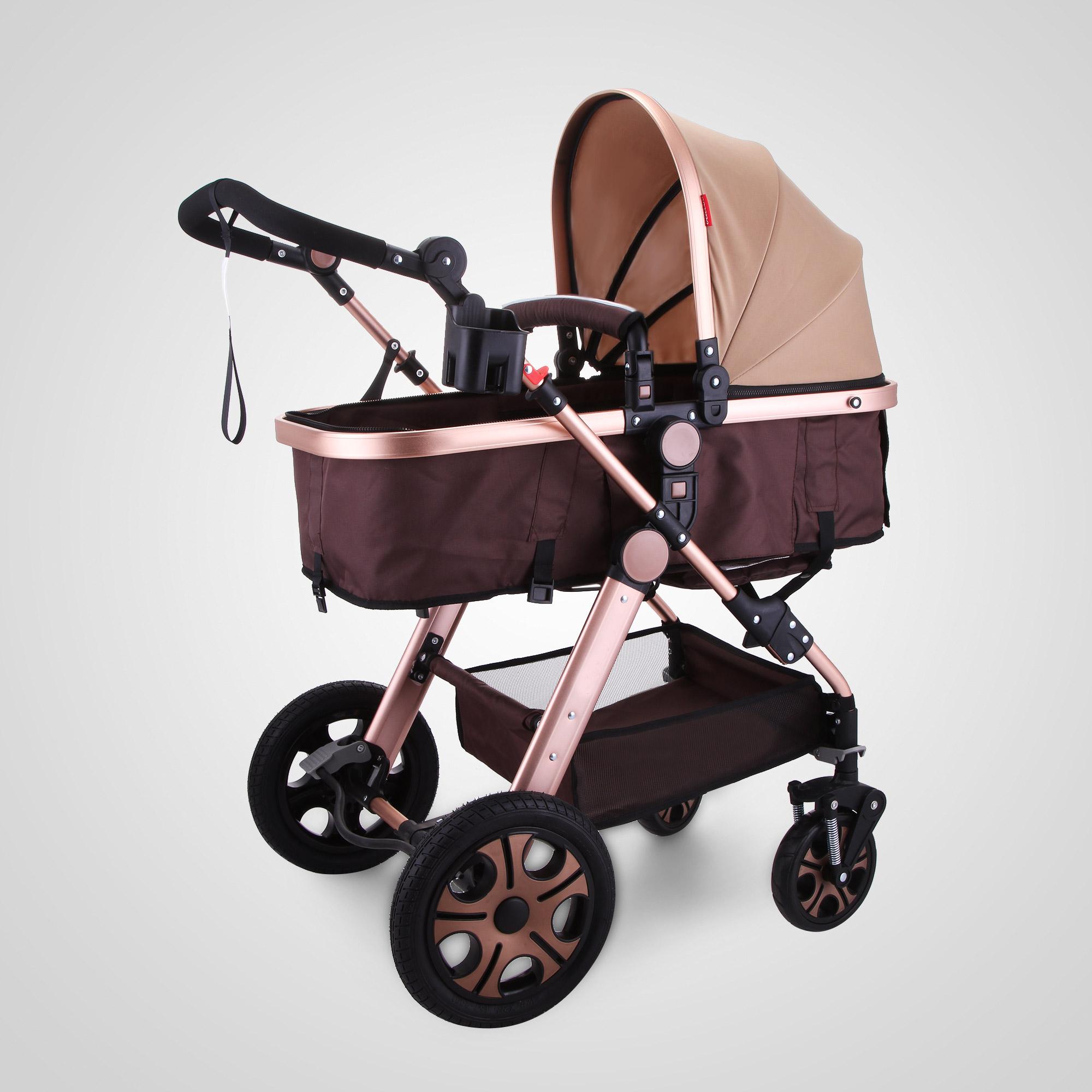Foldable Pram Baby Stroller Carriage Infant Adjustable
