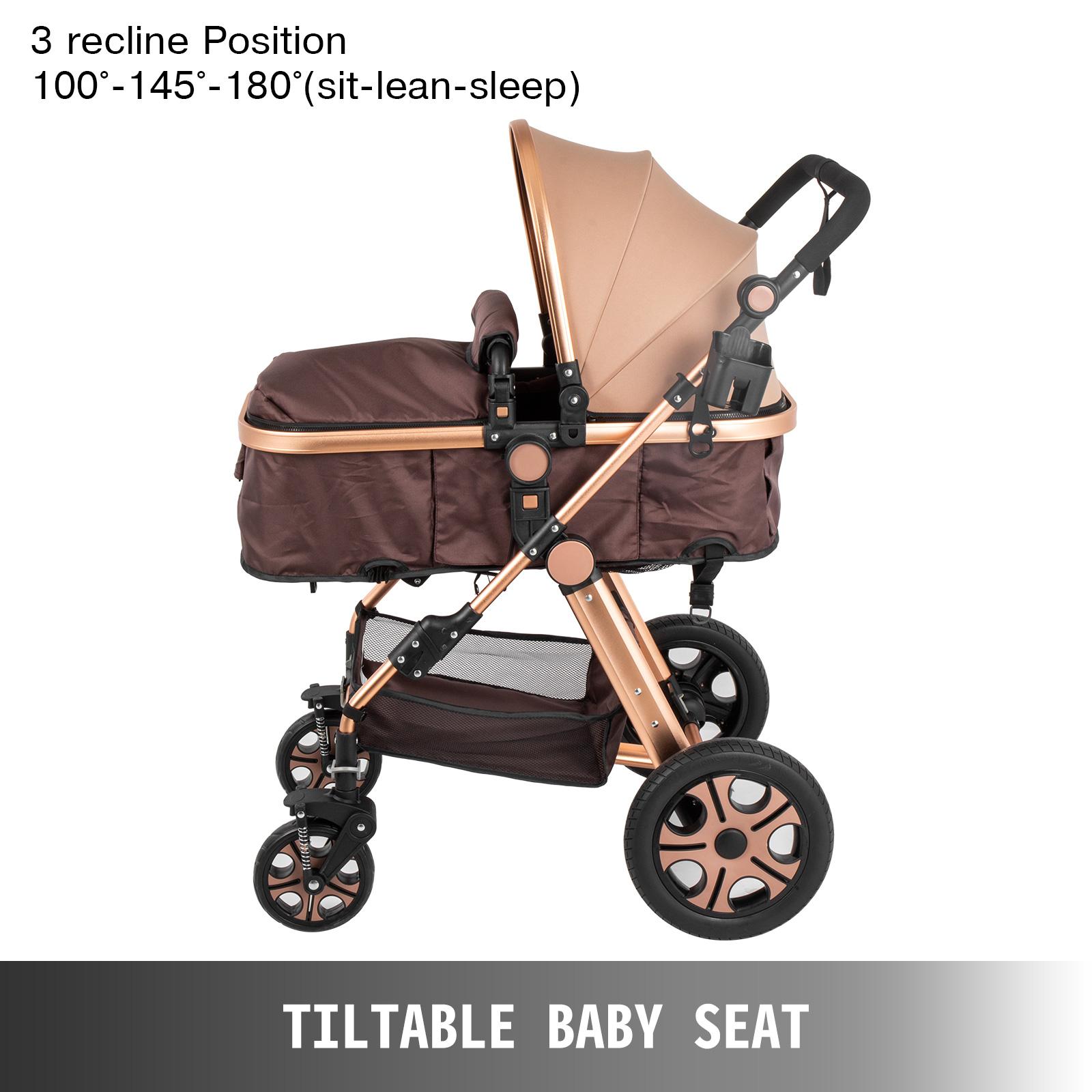 newborn stroller,golden, aluminium alloy