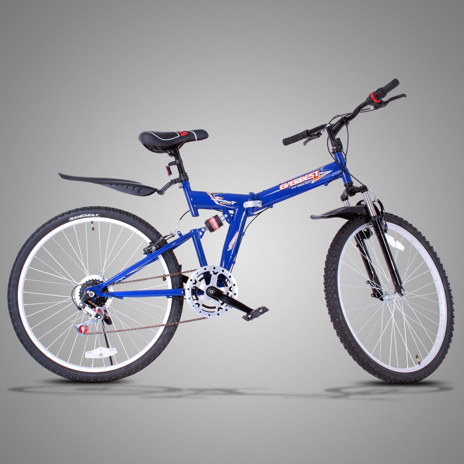 26 zoll mountainbike mtb fahrrad klapprad blau hardtail. Black Bedroom Furniture Sets. Home Design Ideas