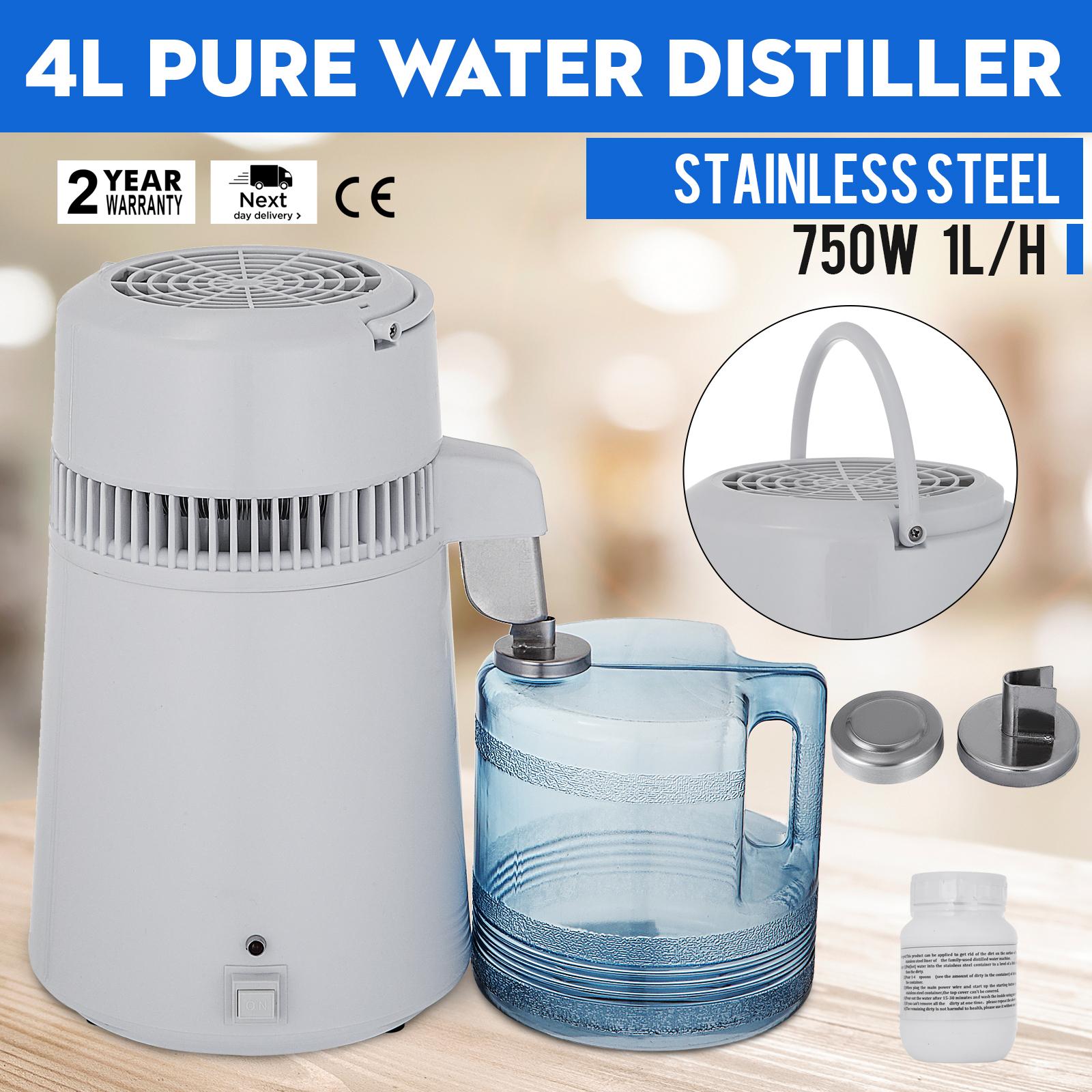 750W-4L-Wasser-Destilliergeraet-Water-Distiller-Einmachglas-Wasserflasche-Zuhause Indexbild 13