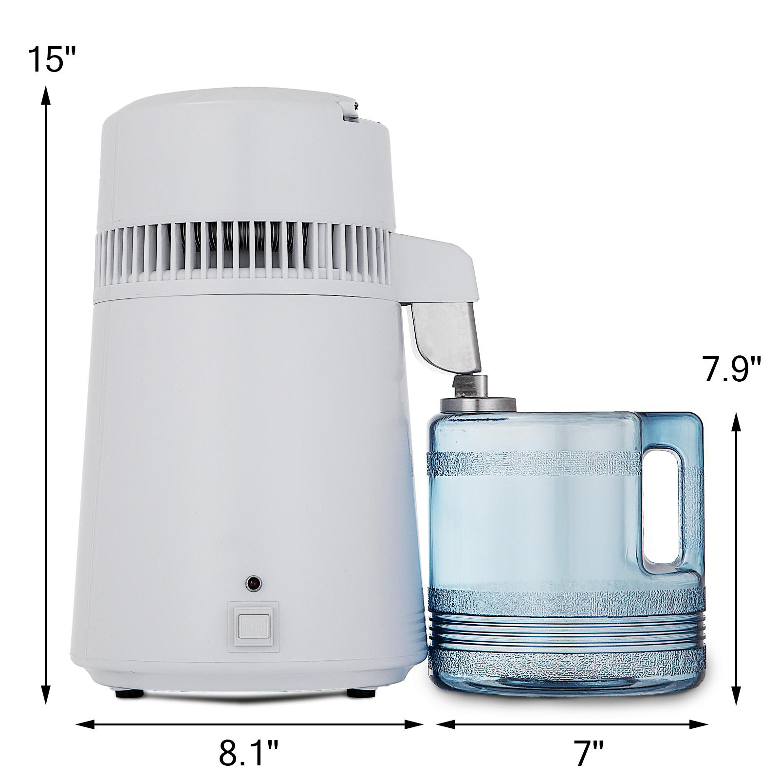 750W-4L-Wasser-Destilliergeraet-Water-Distiller-Einmachglas-Wasserflasche-Zuhause Indexbild 14