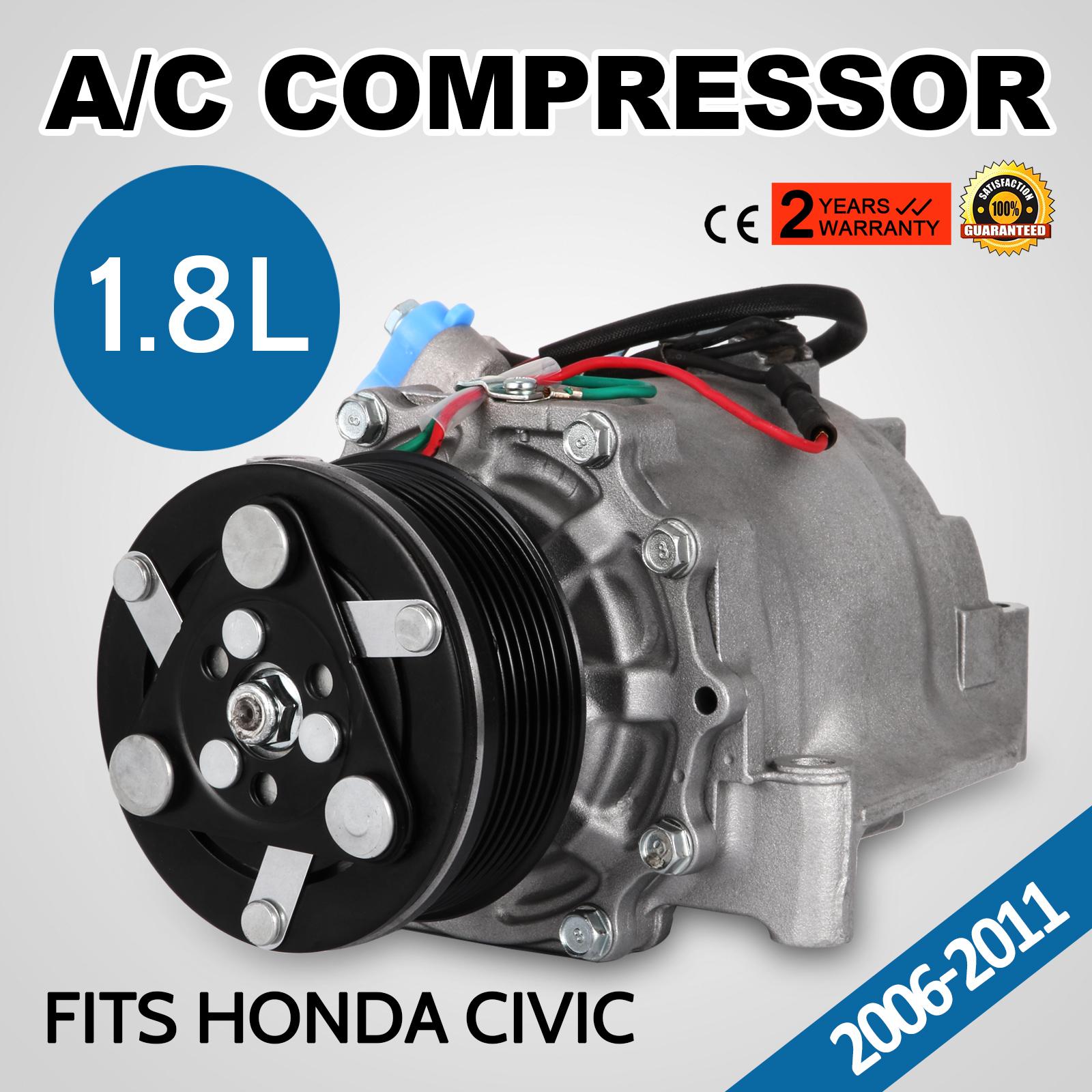 A//C AC Compressor Clutch Assembly Fits Honda Civic 2006-2011 L4 1.8L TRSE07
