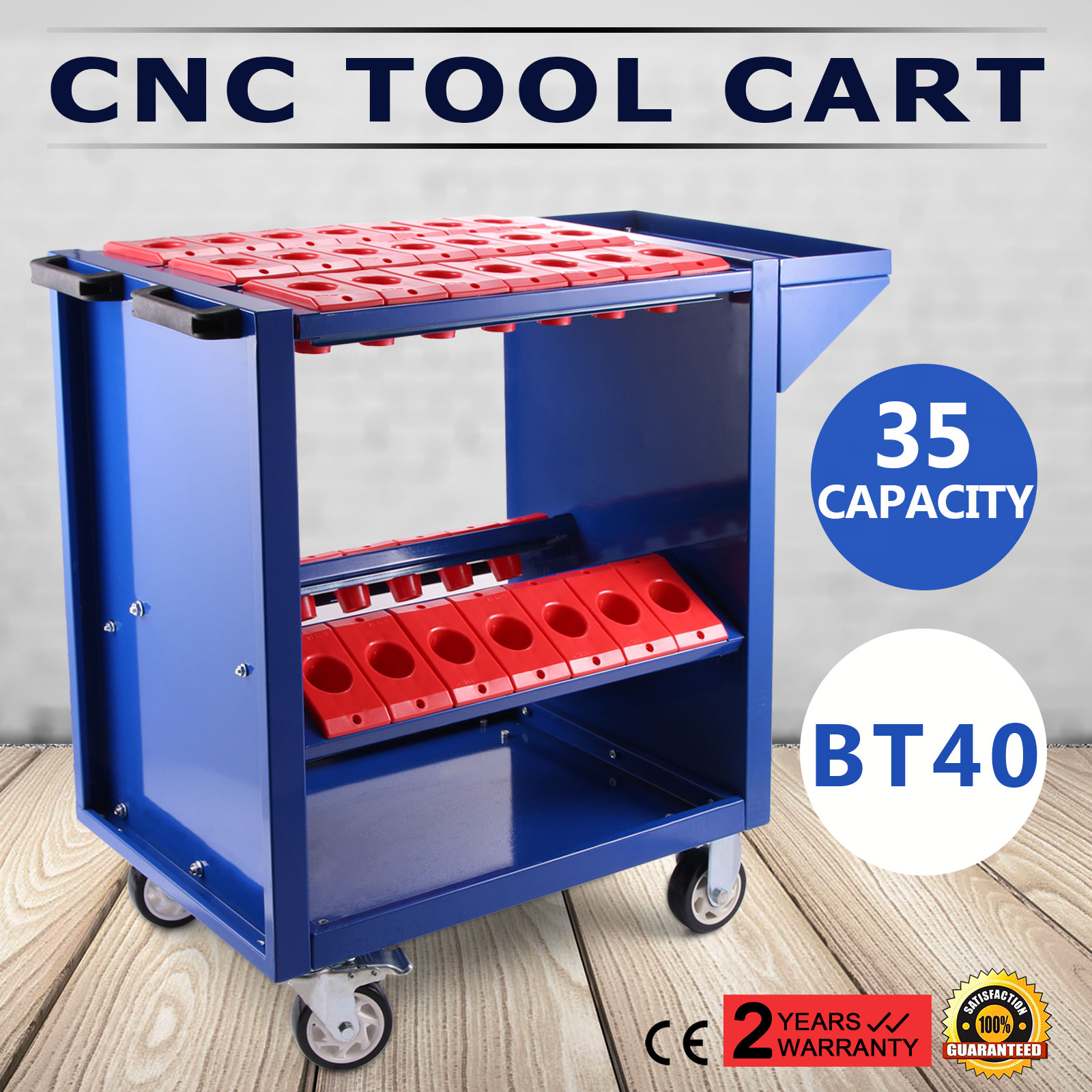CNC Tool Cart BT40 CNC Trolley Cart Holders Toolscoot White CAT40 Workstation