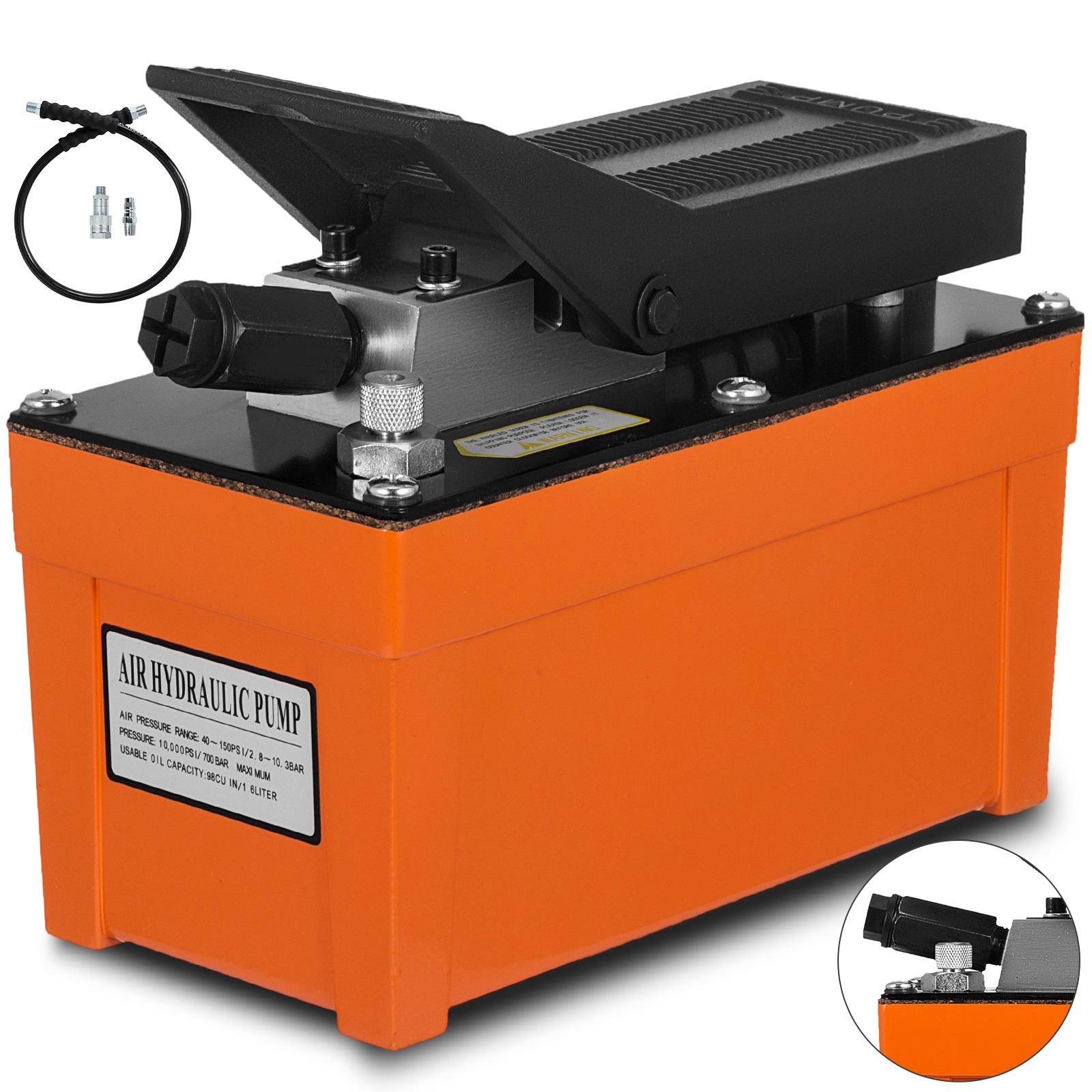 Air Powered Hydraulic Foot Pump 10,000 PSI Hydraulic Foot pedal Power pump
