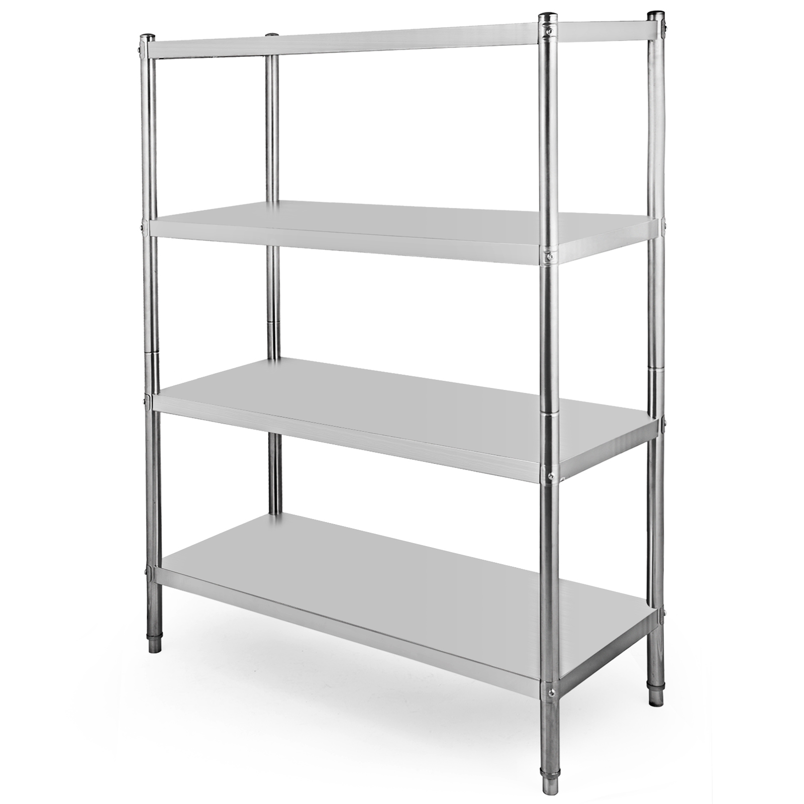 Details about Stainless Steel Kitchen Shelf Shelving Rack 4-Shelf  Commercial Canteens Storage