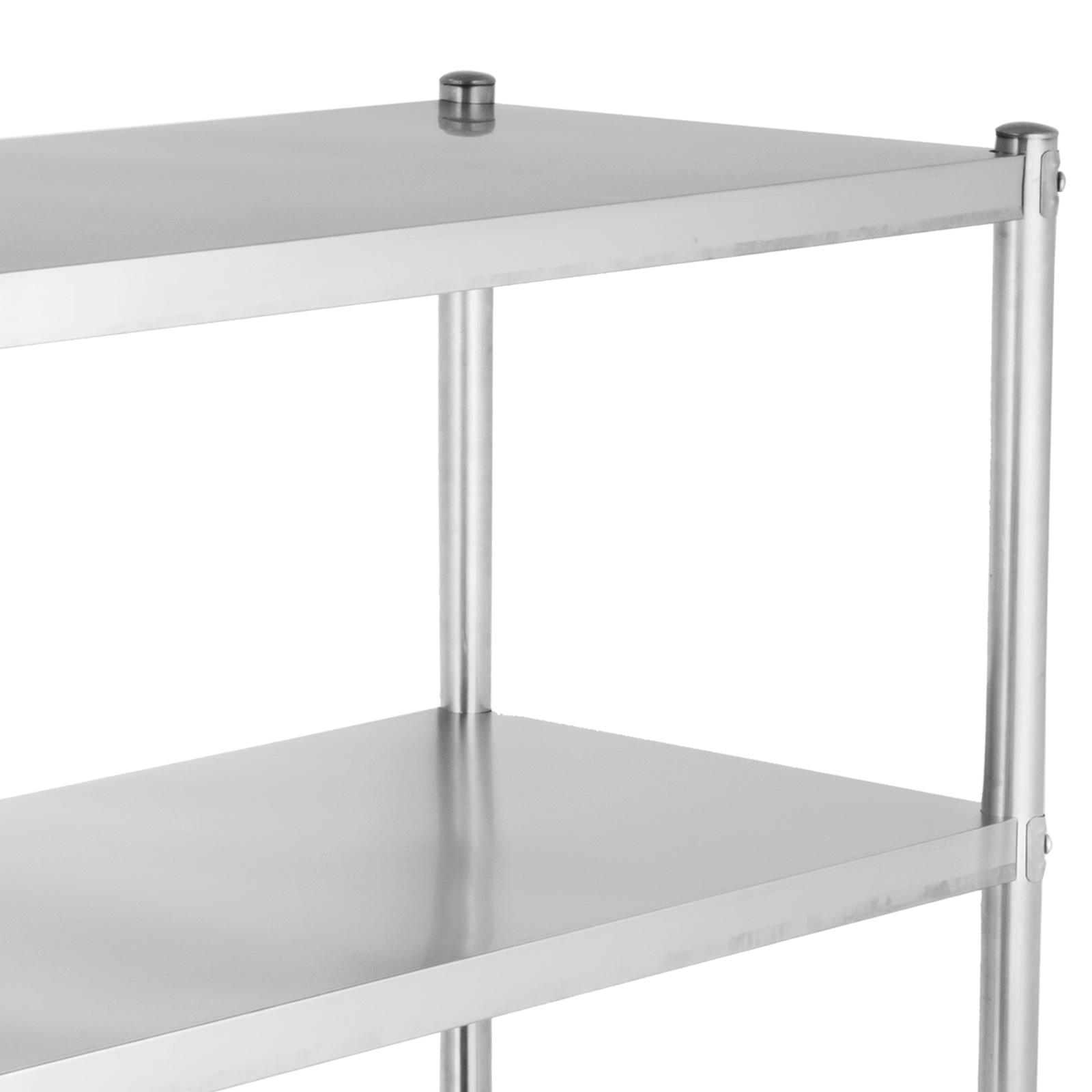 edelstahlregal k chenregal edelstahl regal 4 tier gastro 150kg boden pro ebay. Black Bedroom Furniture Sets. Home Design Ideas