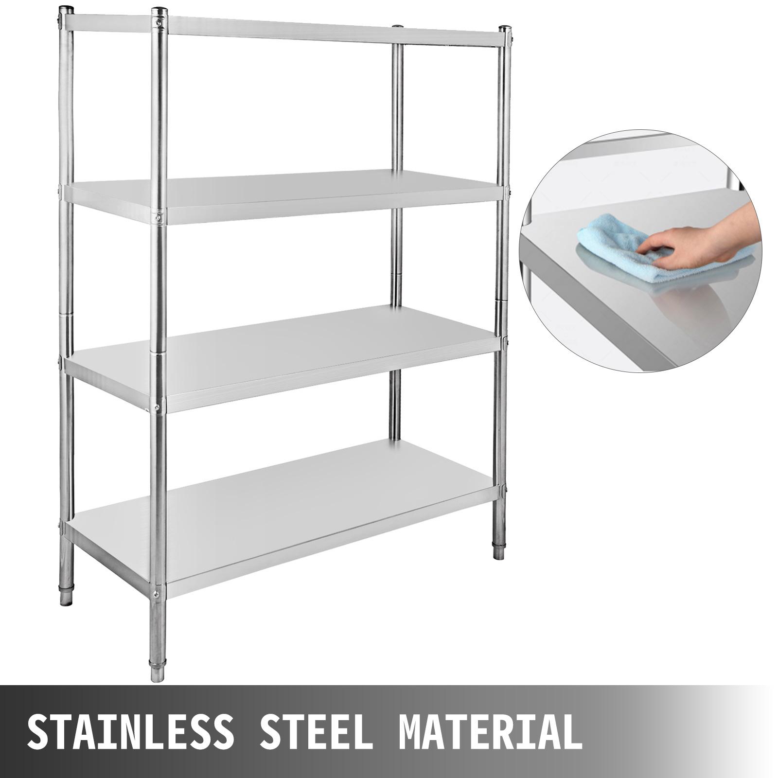4-5 Tier Stainless Steel Shelf Stand Commercial Kitchen Restaurant Shelving Rack