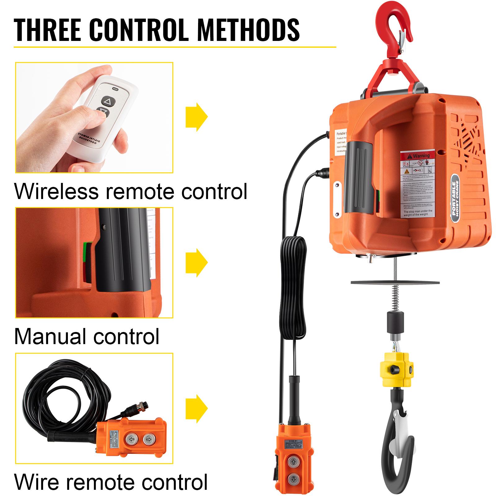 Cranes & Hoists VEVOR 3-in-1 Electric Hoist Winch Portable Crane ...