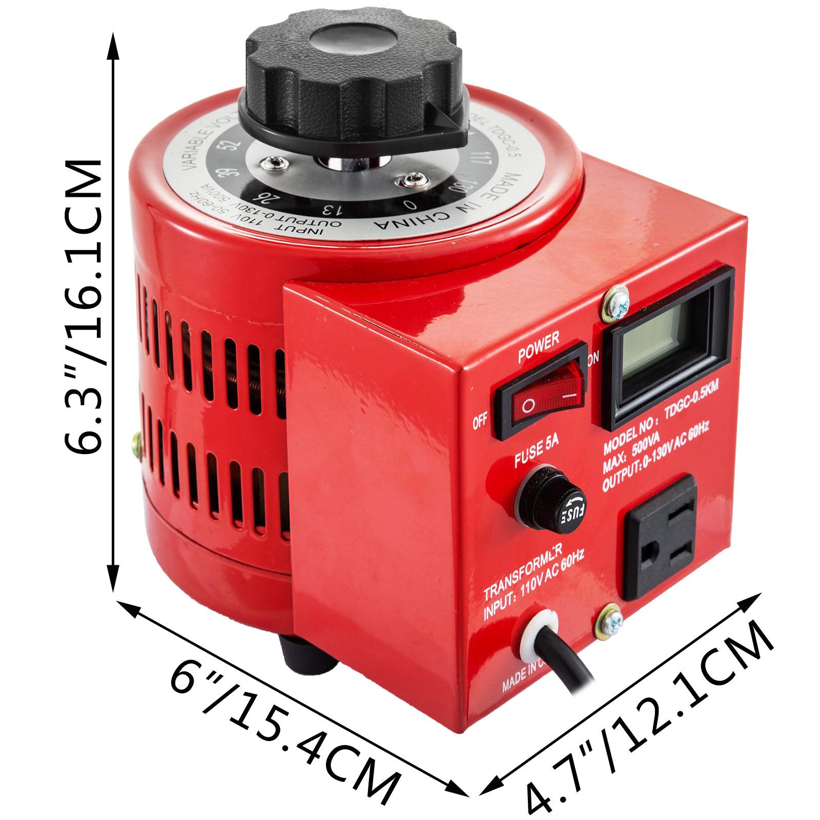 Variac-Variable-Transforme-0-5-1-2-3KVA-LCD-Single-Phase-Digital-Display-0-130V thumbnail 20