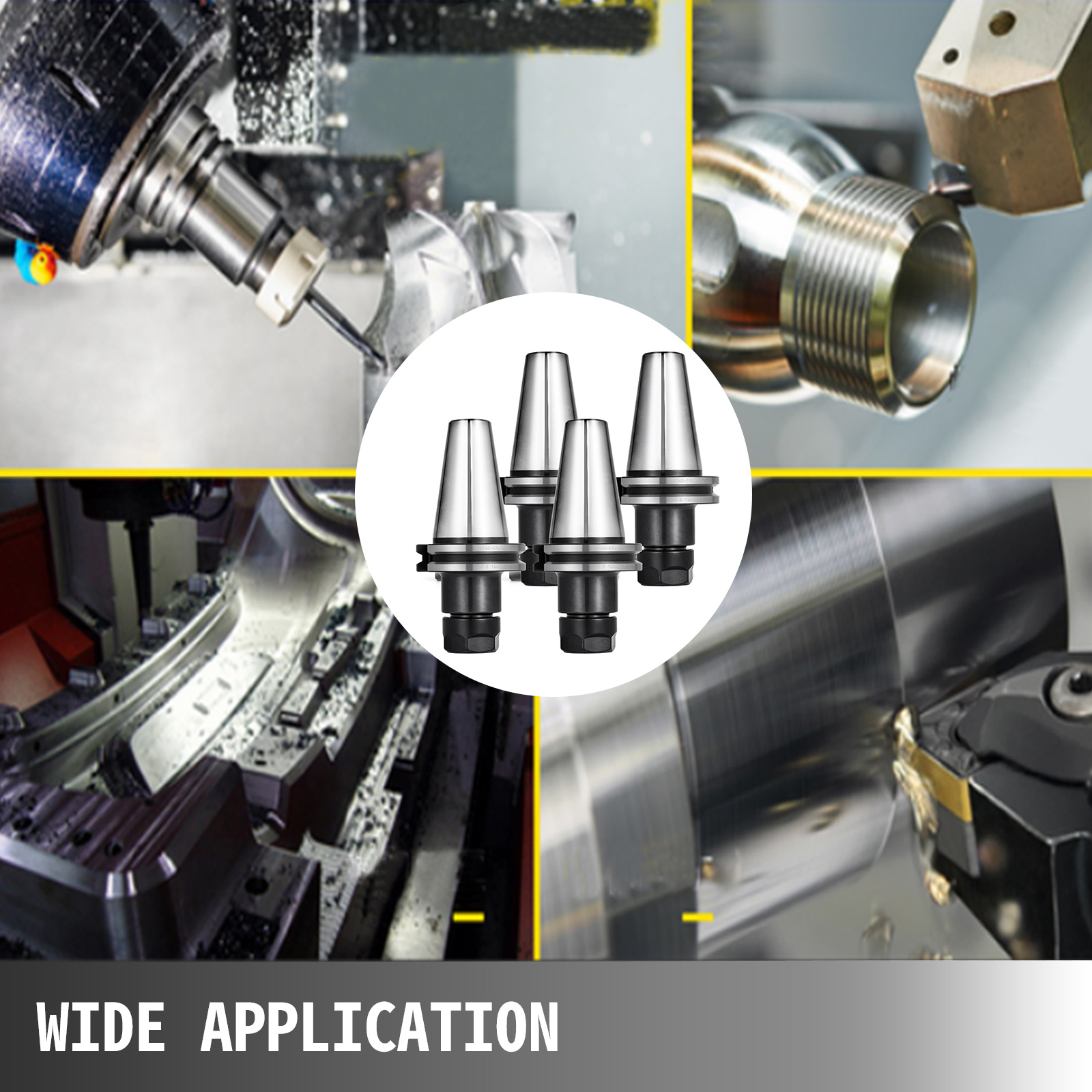 CAT40 Precision Tool Holder CNC Machining Collet Chuck 20000RPM Pull Stud for Drilling Machines Grinding Machines Lathes ZXY-NAN Collet Chuck Tool Holder