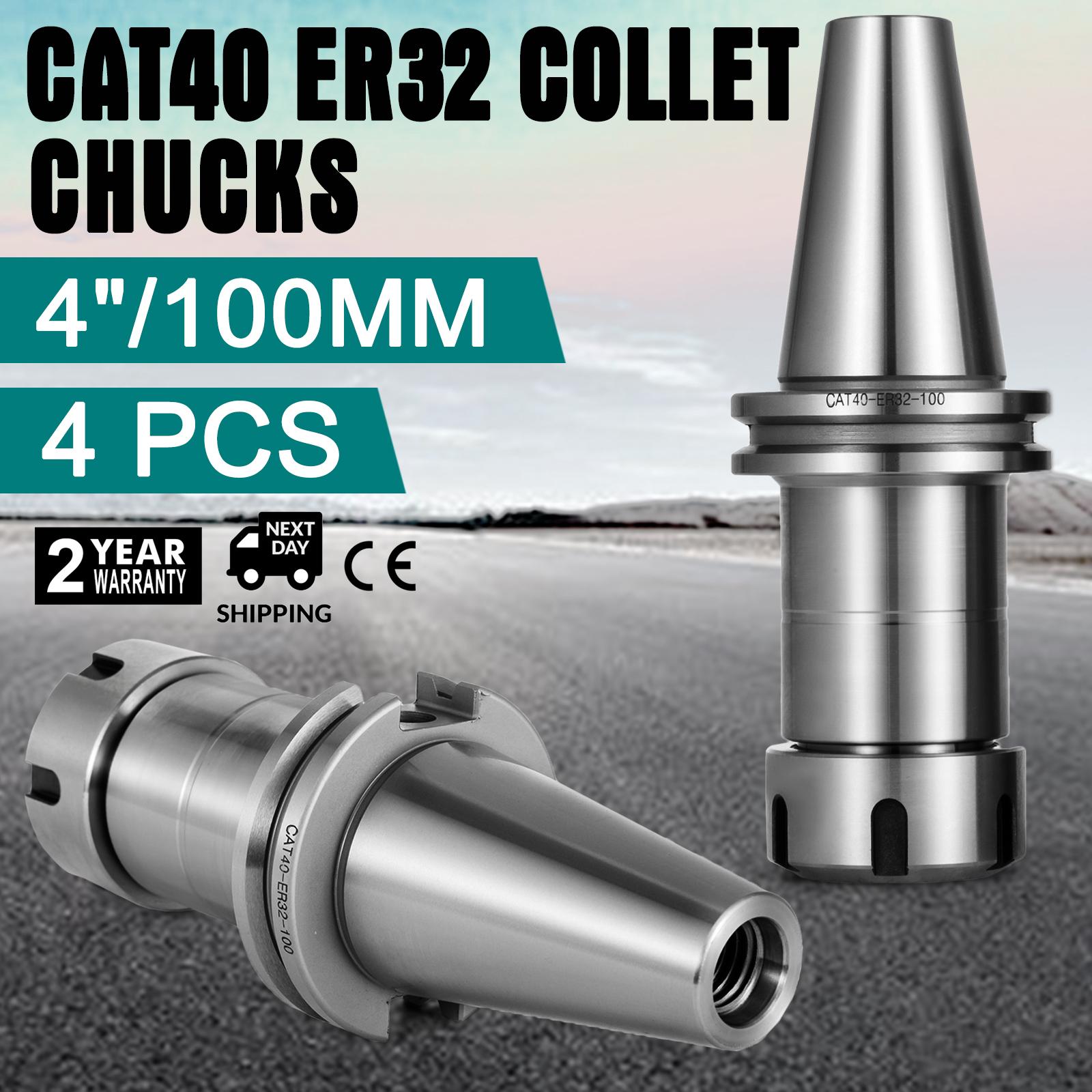"4Pcs CAT40 ER32 COLLET CHUCKS W.4/"" Long Gage Length Tool Holder Pop Durable Good"