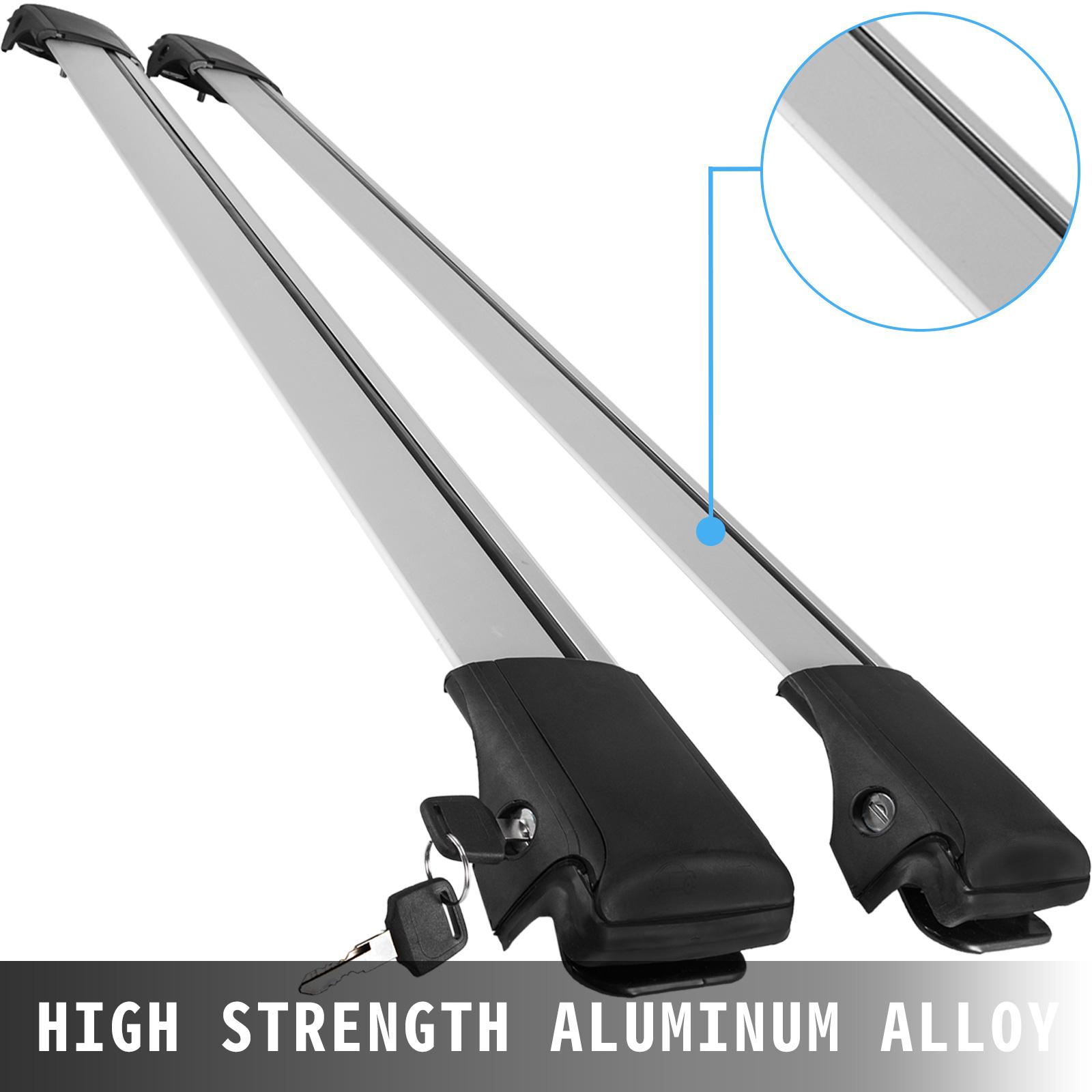 Aluminum Roof Rack T-Slot Raised Rail Cross Bar Carrier