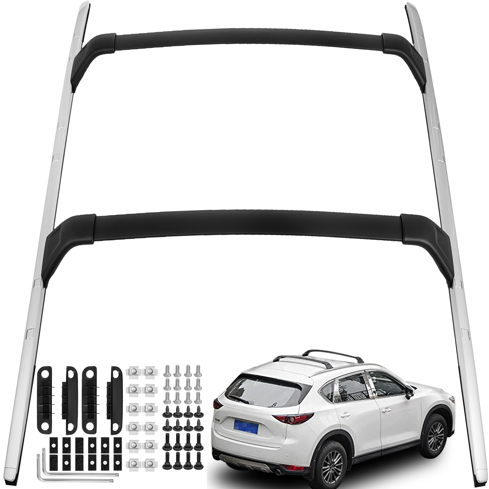 For 2017 2018 Mazda CX5 CX-5 Roof Rail Rack Cross Bars Cargo Carrier Aluminium