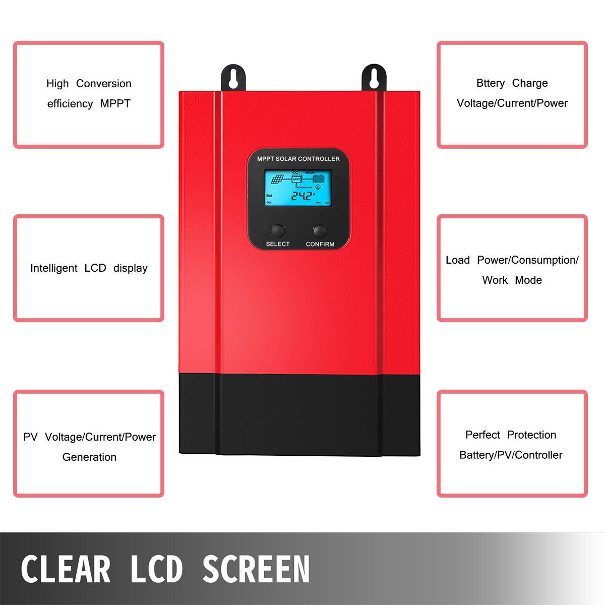 ESMART-3-LCD-40a-50a-60a-12v-24v-36v-48v-MPPT-Solar-Charge-Controller-Regolatore-di-carica miniatura 28
