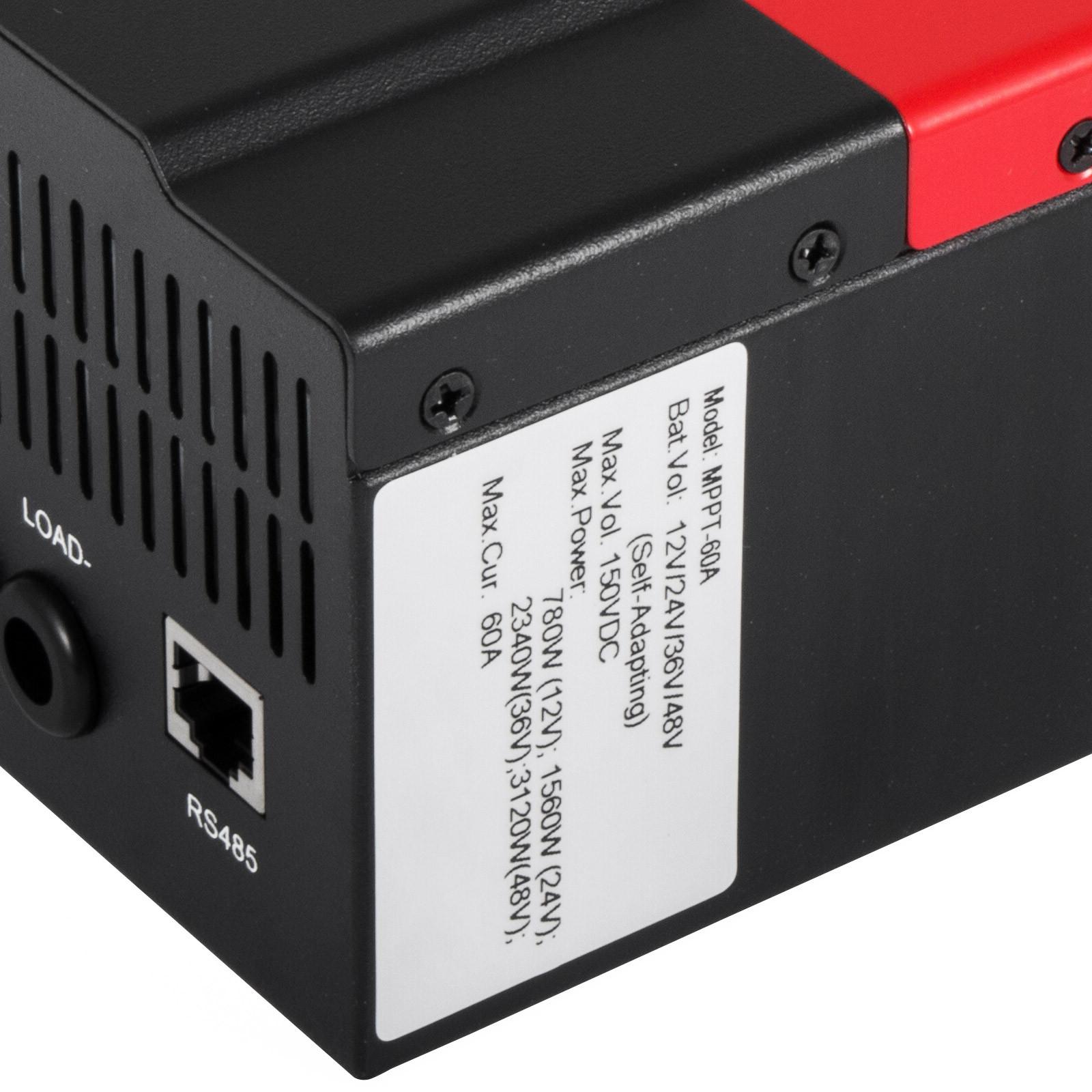 ESMART-3-LCD-40a-50a-60a-12v-24v-36v-48v-MPPT-Solar-Charge-Controller-Regolatore-di-carica miniatura 18