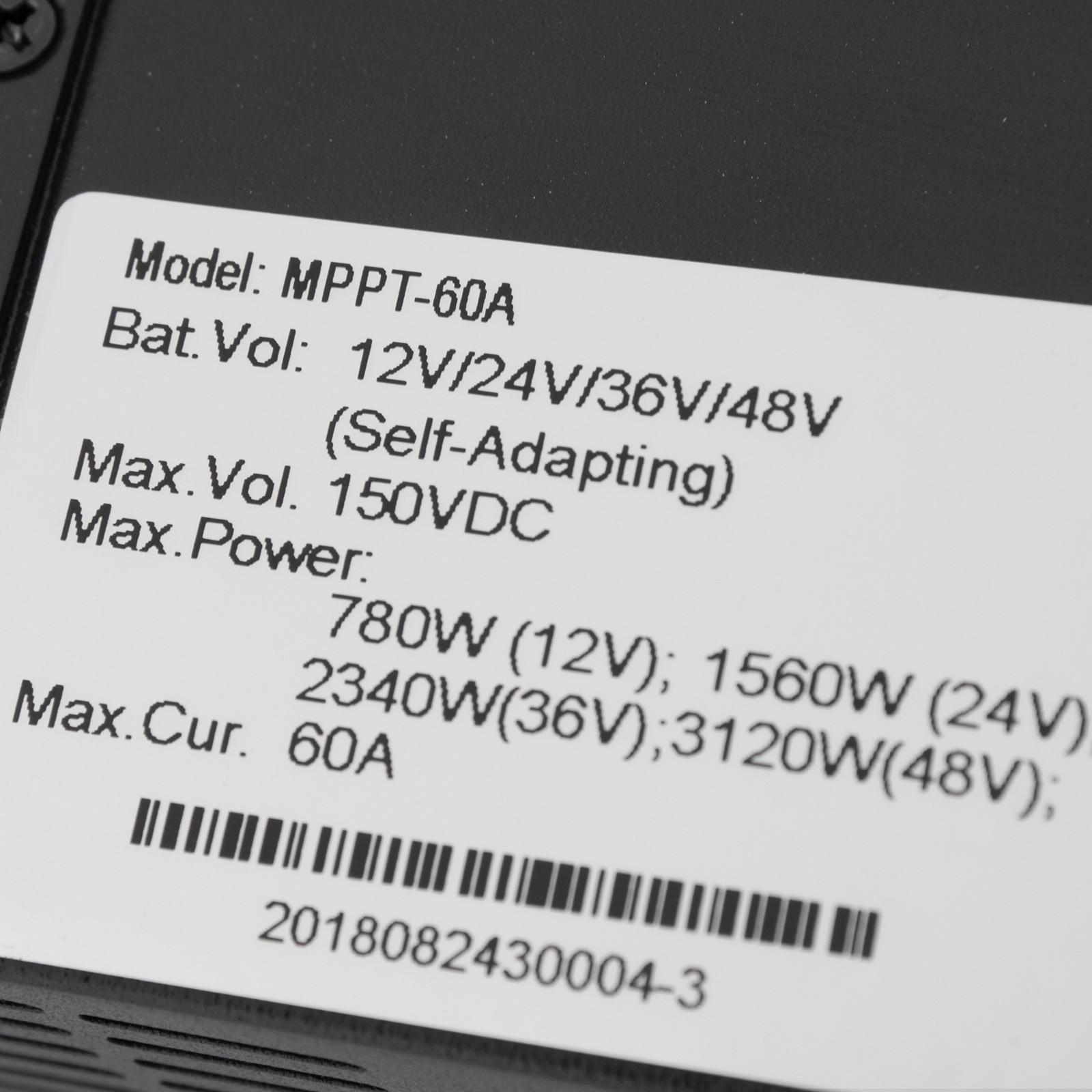 ESMART-3-LCD-40a-50a-60a-12v-24v-36v-48v-MPPT-Solar-Charge-Controller-Regolatore-di-carica miniatura 42
