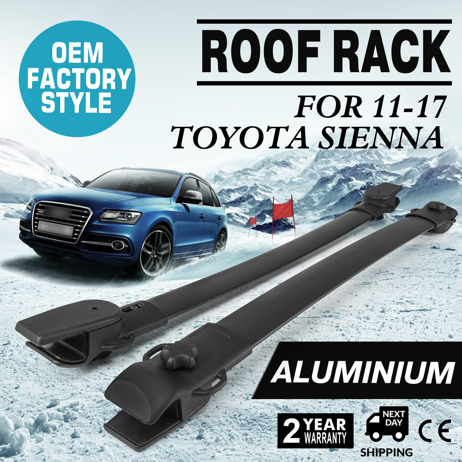 Fits For Toyota Sienna 2011 2019 Roof Rack Cross Bar