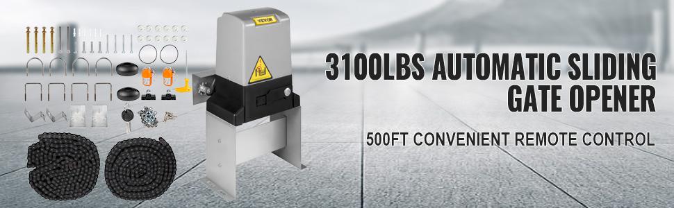 Sliding Gate Opener Door Operator 3100lbs 1400kg Automatic Driven Opener