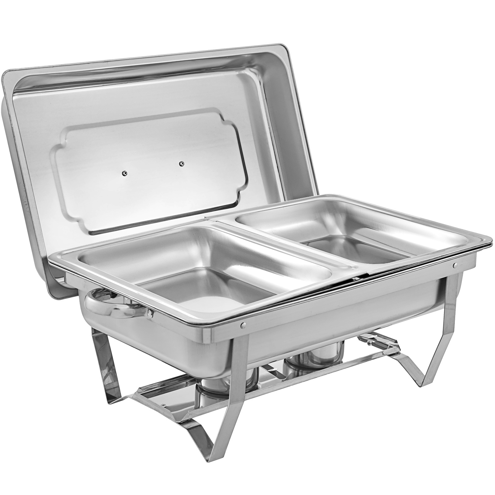 thumbnail 71 - Multi-Stainless-Steel-Chafing-Dish-Bain-Marie-Bow-Catering-Dish-Hotpot-Server