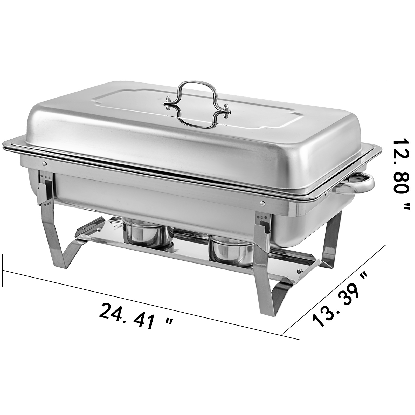 thumbnail 68 - Multi-Stainless-Steel-Chafing-Dish-Bain-Marie-Bow-Catering-Dish-Hotpot-Server