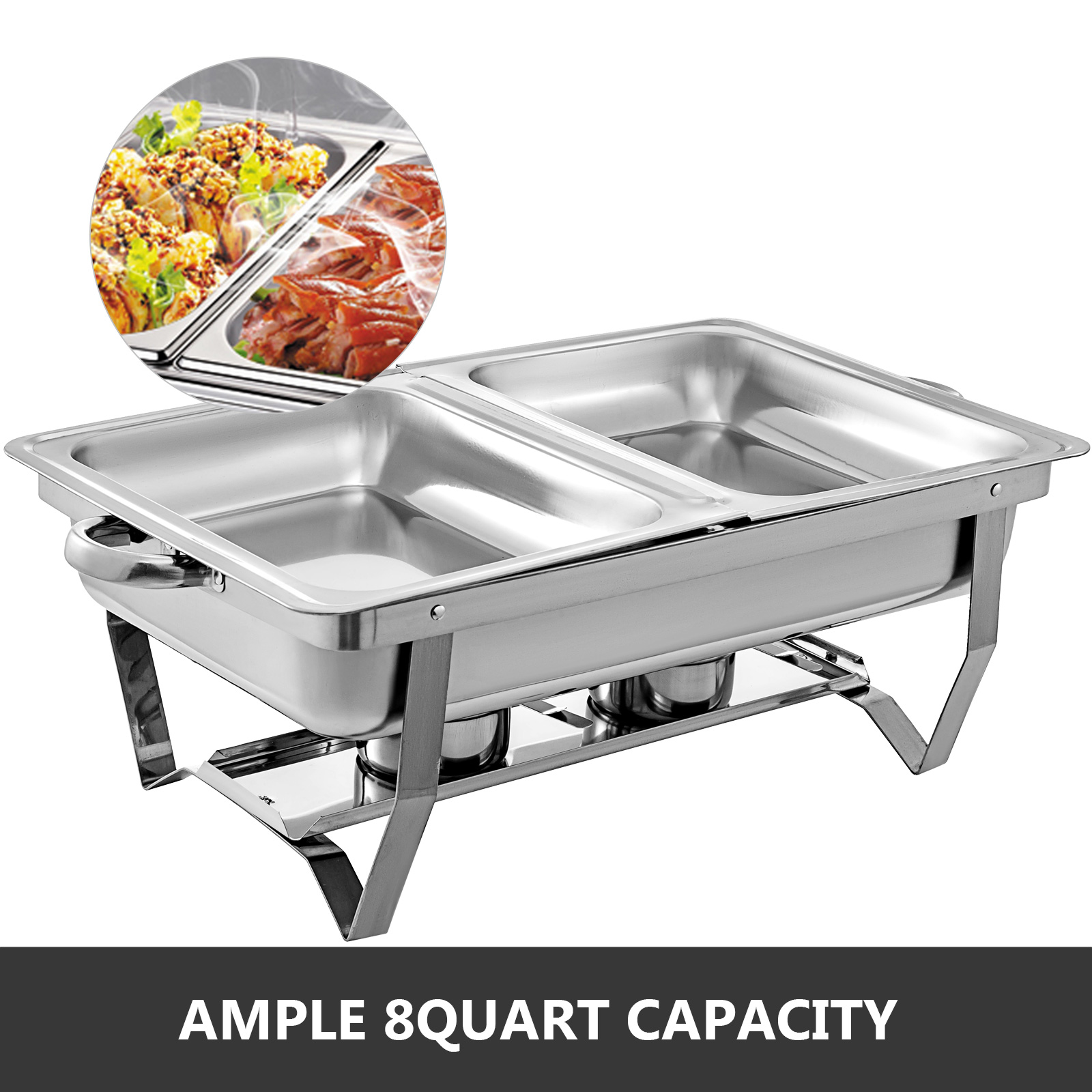thumbnail 77 - Multi-Stainless-Steel-Chafing-Dish-Bain-Marie-Bow-Catering-Dish-Hotpot-Server