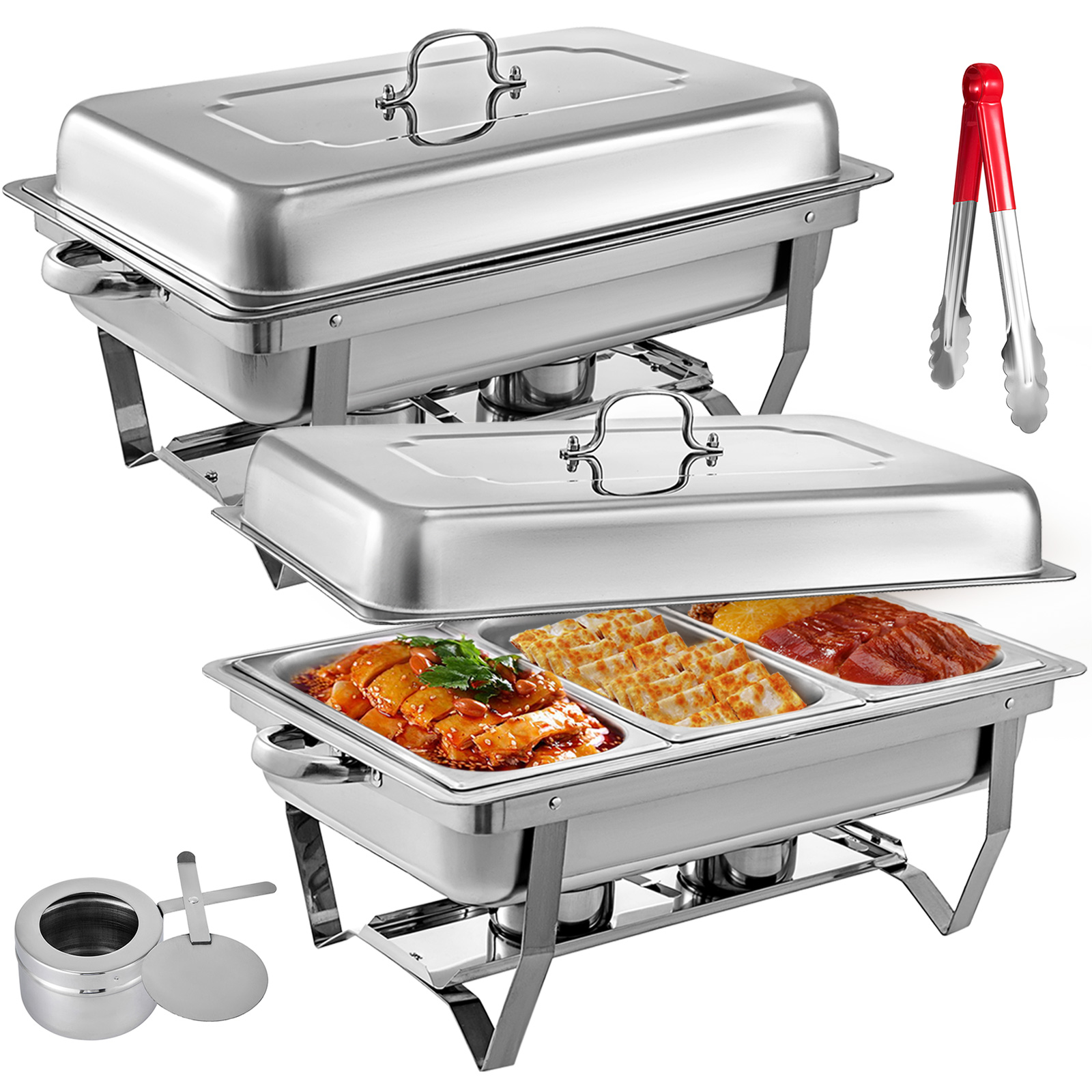 thumbnail 85 - Multi-Stainless-Steel-Chafing-Dish-Bain-Marie-Bow-Catering-Dish-Hotpot-Server
