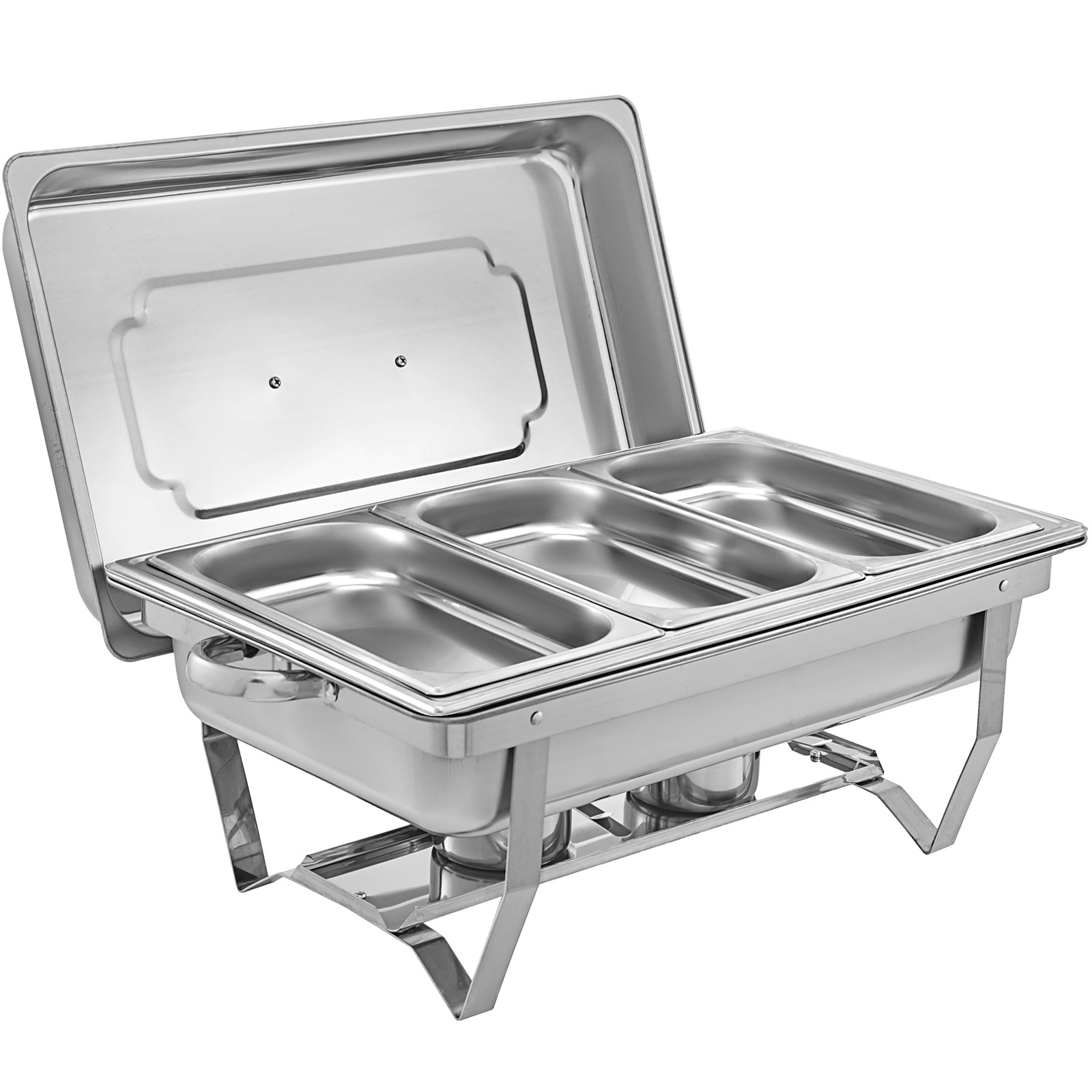 thumbnail 95 - Multi-Stainless-Steel-Chafing-Dish-Bain-Marie-Bow-Catering-Dish-Hotpot-Server