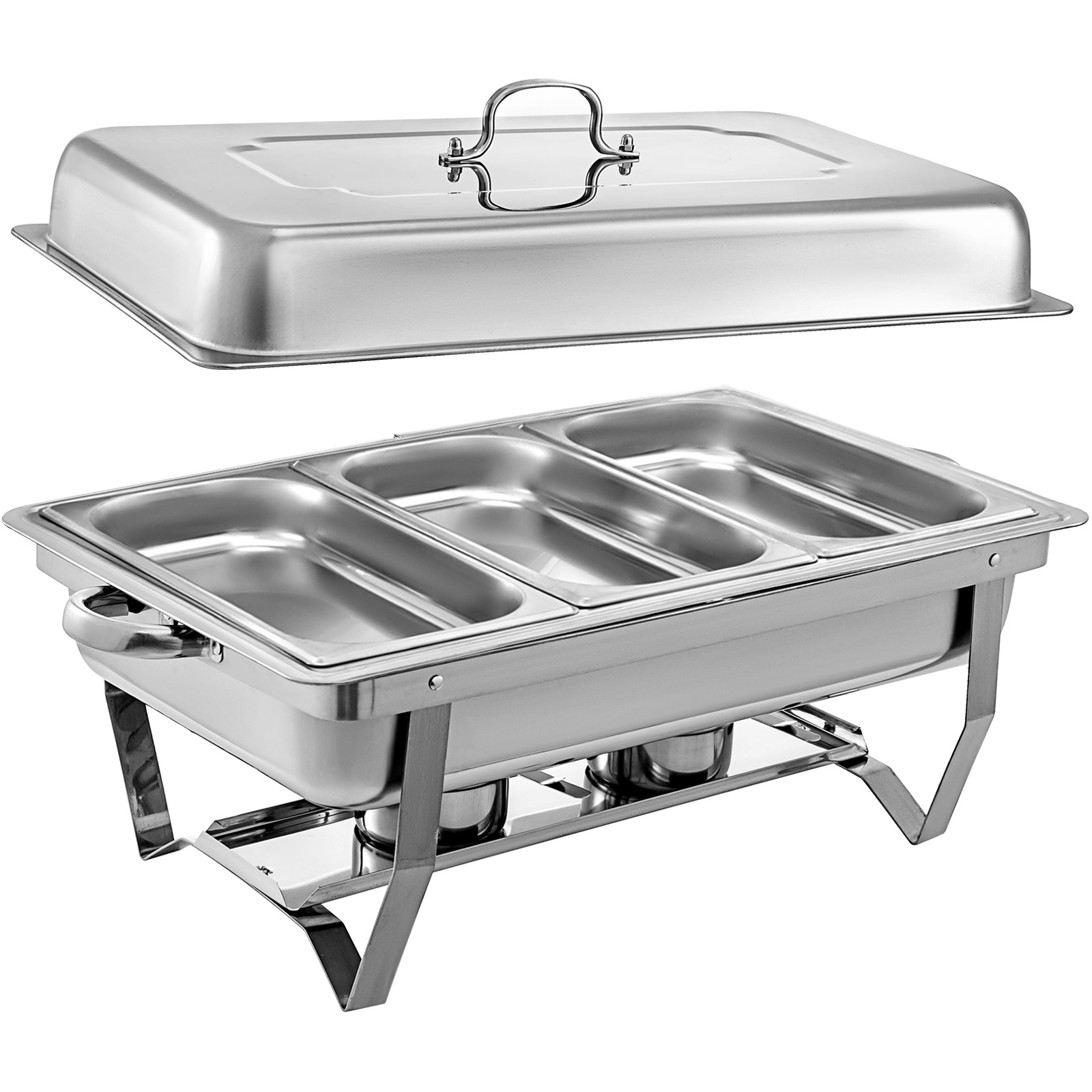 thumbnail 96 - Multi-Stainless-Steel-Chafing-Dish-Bain-Marie-Bow-Catering-Dish-Hotpot-Server