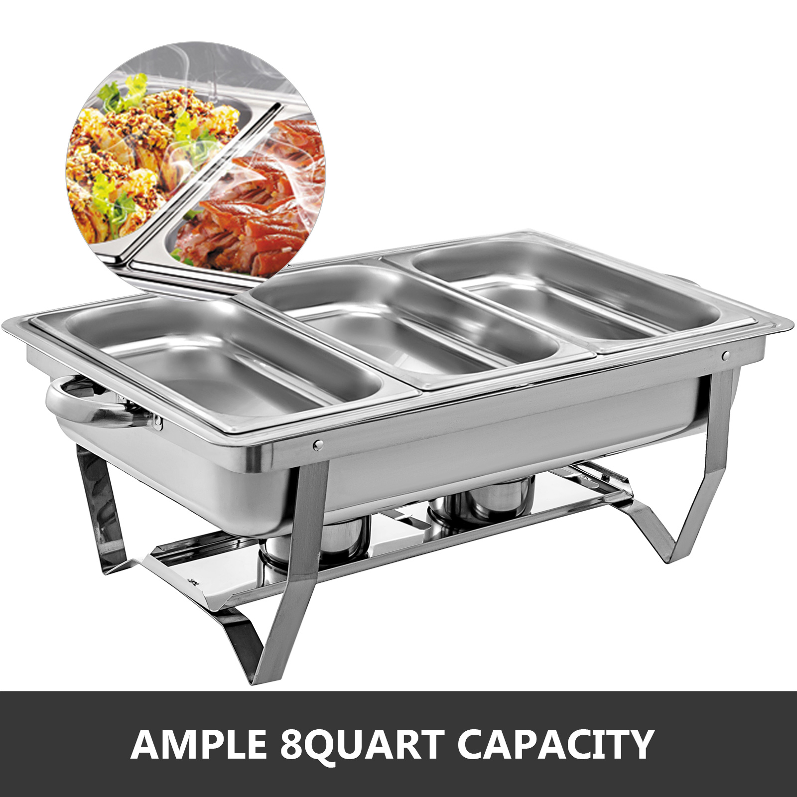 thumbnail 89 - Multi-Stainless-Steel-Chafing-Dish-Bain-Marie-Bow-Catering-Dish-Hotpot-Server