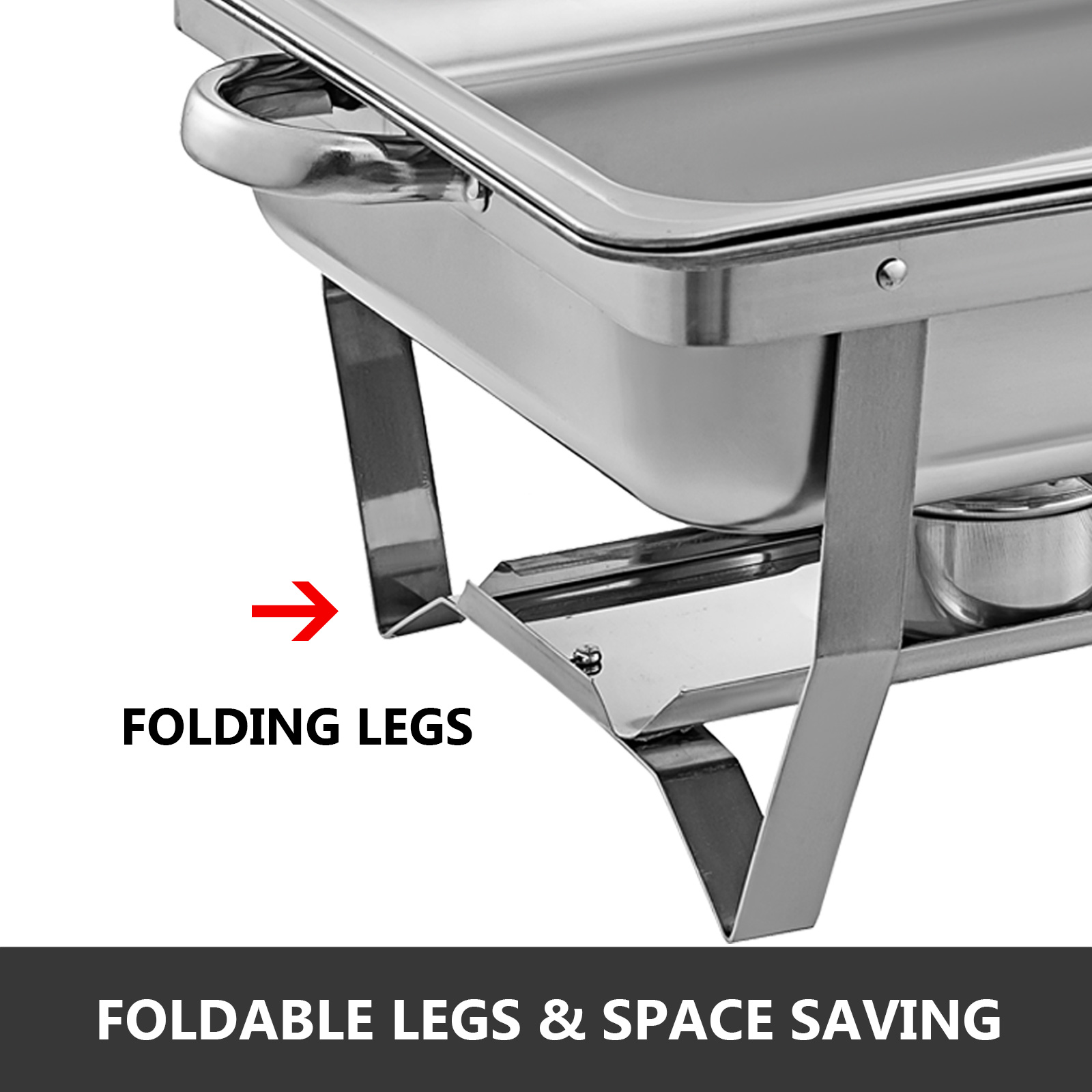 thumbnail 90 - Multi-Stainless-Steel-Chafing-Dish-Bain-Marie-Bow-Catering-Dish-Hotpot-Server