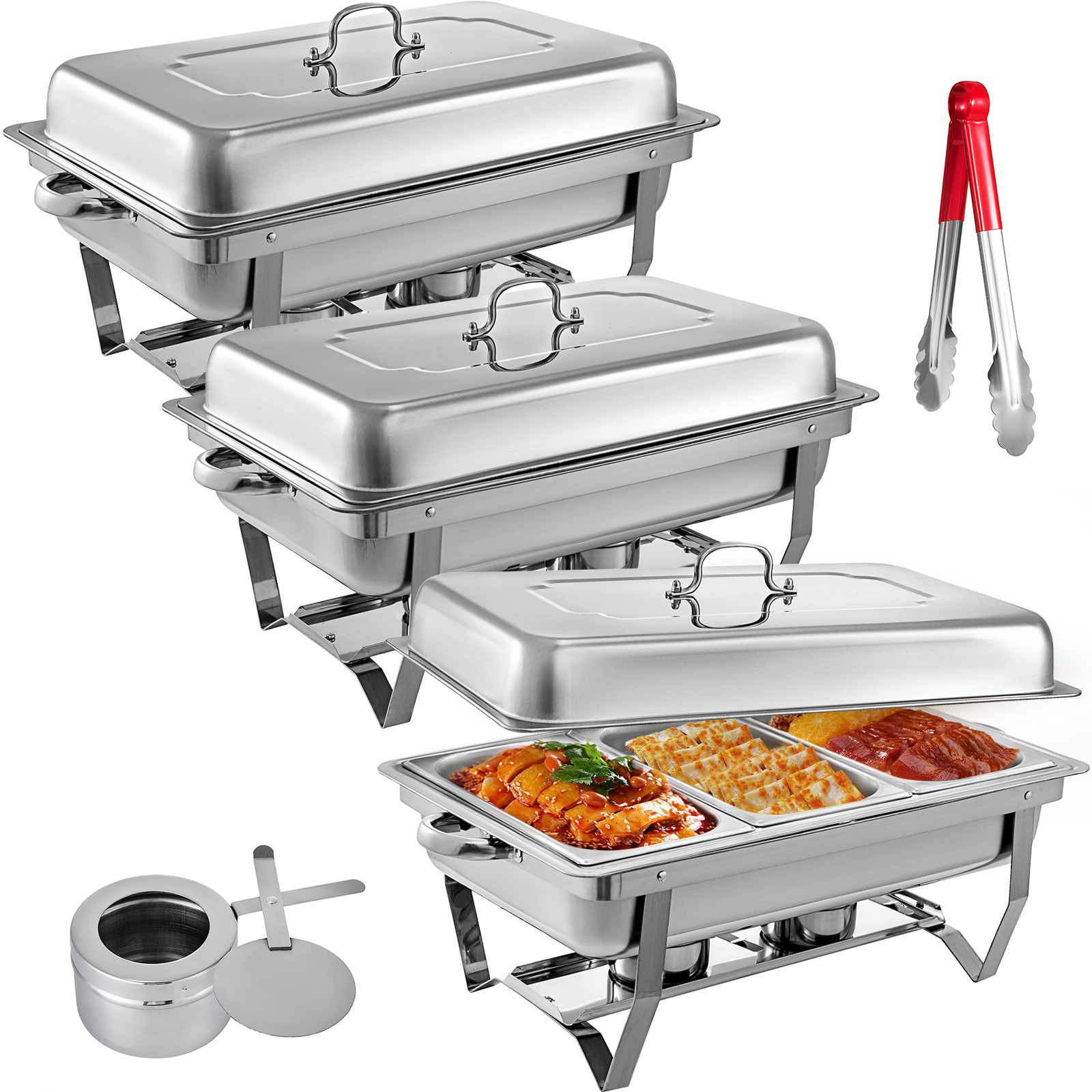 thumbnail 97 - Multi-Stainless-Steel-Chafing-Dish-Bain-Marie-Bow-Catering-Dish-Hotpot-Server