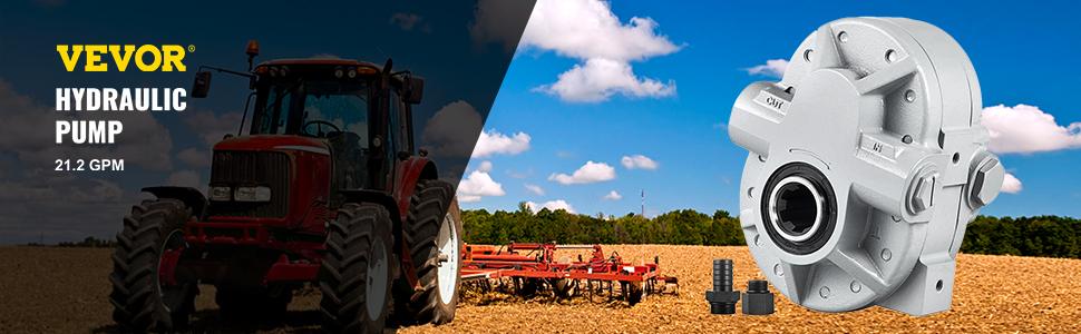 Hydraulic Tractor PTO Pump 22GPM 1000RPM Hydraulic Pump