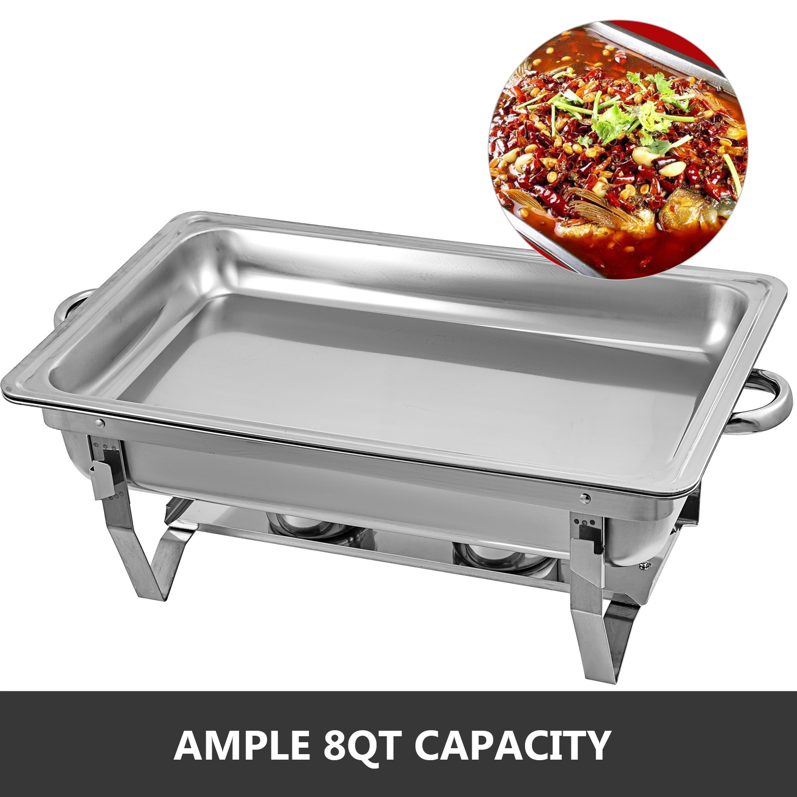 thumbnail 41 - Multi-Stainless-Steel-Chafing-Dish-Bain-Marie-Bow-Catering-Dish-Hotpot-Server