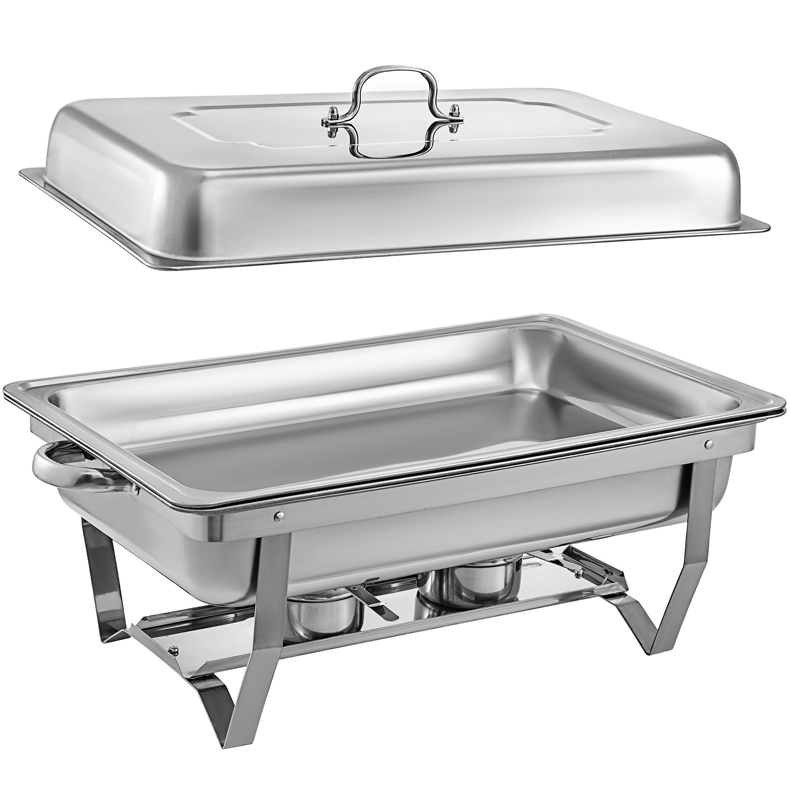 thumbnail 60 - Multi-Stainless-Steel-Chafing-Dish-Bain-Marie-Bow-Catering-Dish-Hotpot-Server