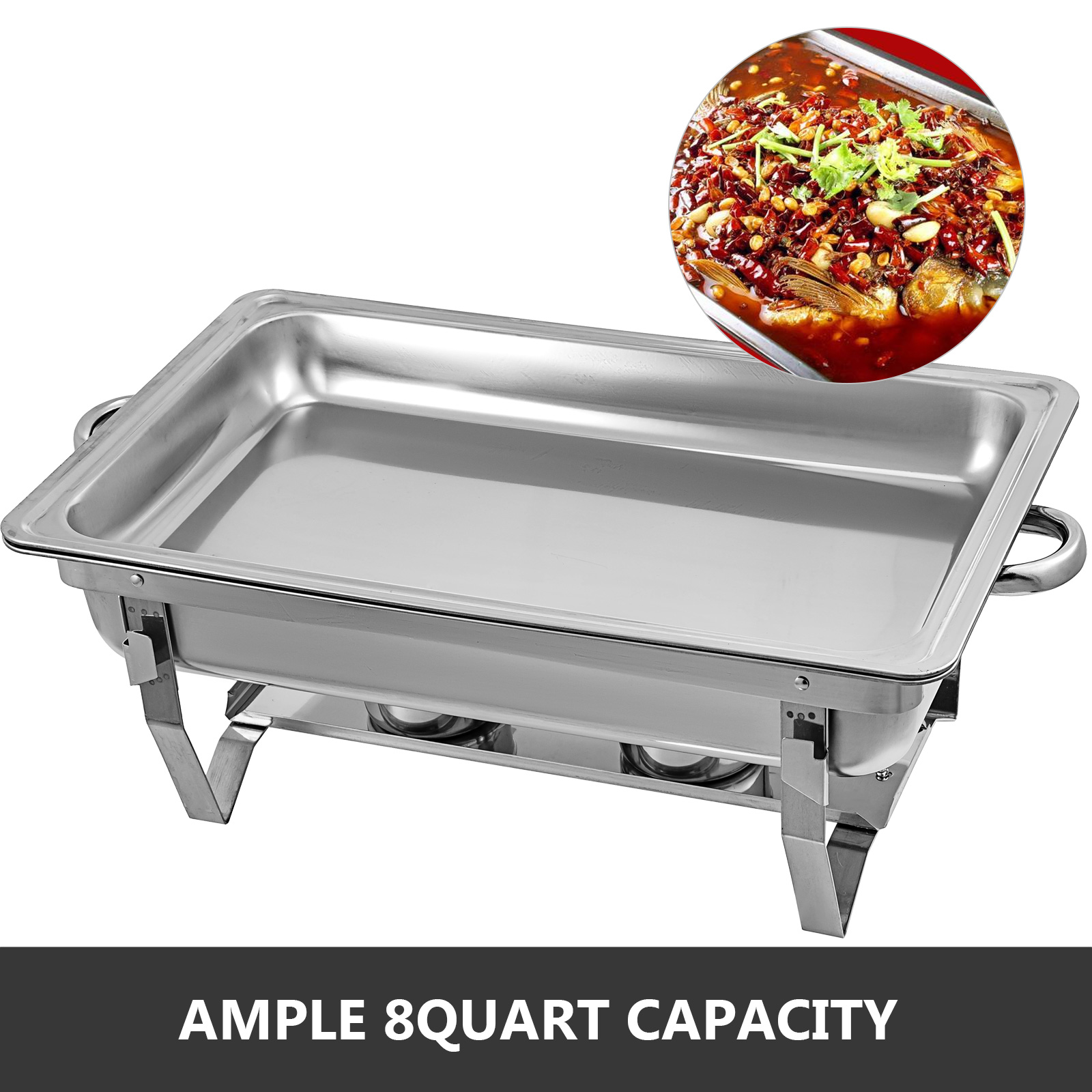 thumbnail 53 - Multi-Stainless-Steel-Chafing-Dish-Bain-Marie-Bow-Catering-Dish-Hotpot-Server