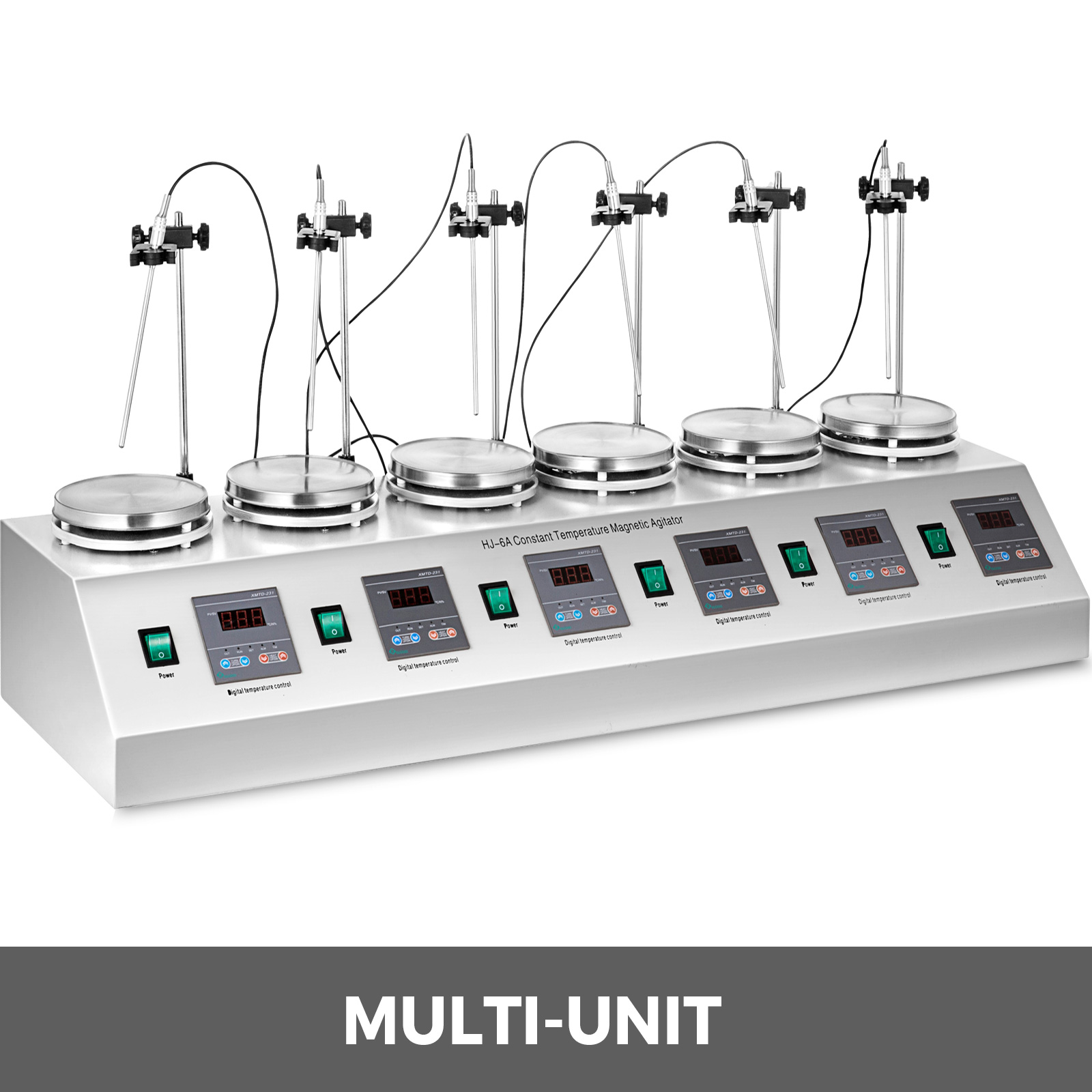 Magnetic stirrer,stainless steel,6 heads