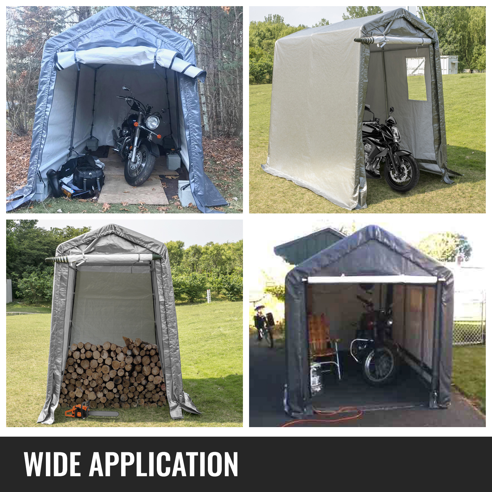 Portable Storage Shed, Portable Garage Shelter, 6x8x7.8 ft ...