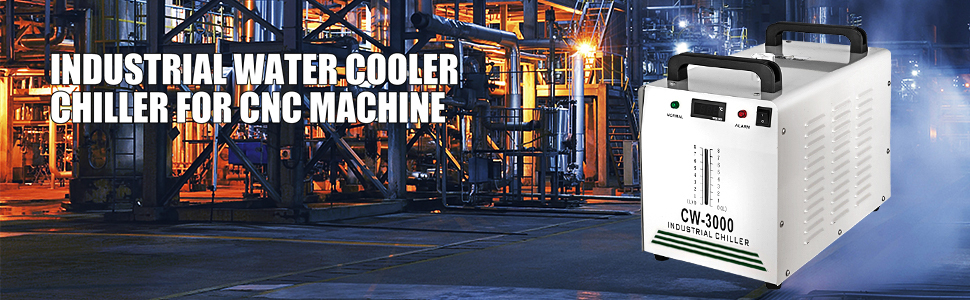 Tinsay 9L Industrial Water Chiller CW-3000 for CNC//Laser Engraver Engraving Machine for 60//80W CO2 Glass Tube