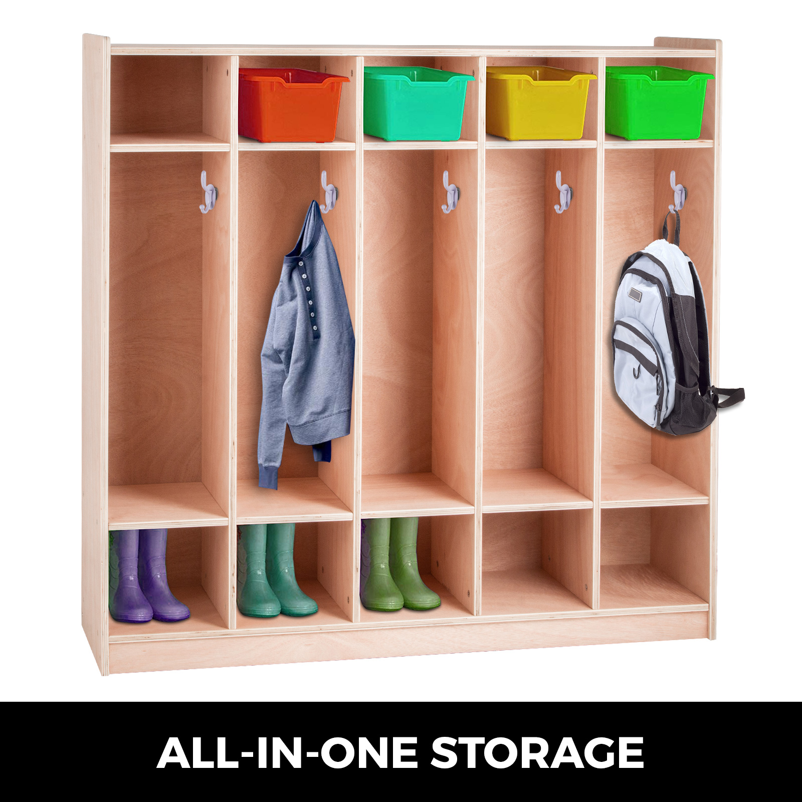 Size : 3-Tier Cylficl Multifunctional ABS Assembly Locker Simple Baby Wardrobe Children Locker Plastic Locker Free Combination
