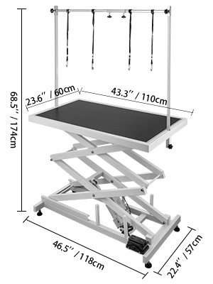 Marvelous Details About Electric Lifting White Pet Dog Grooming Table Heavy Duty Height Adjustable Interior Design Ideas Tzicisoteloinfo