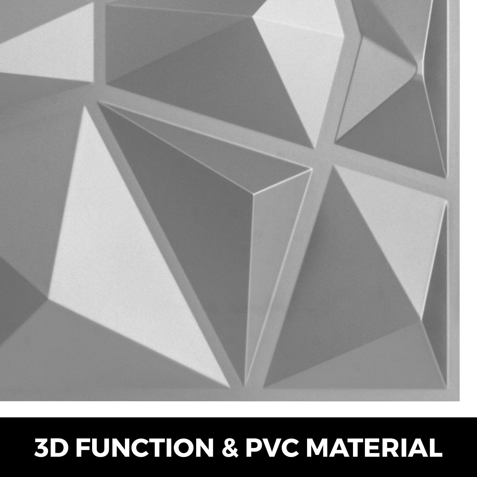 "PVC Wall Panels 3D Textured Bricks 13 Packs Art Design 19.7/""x19.7/"" Waterproof"
