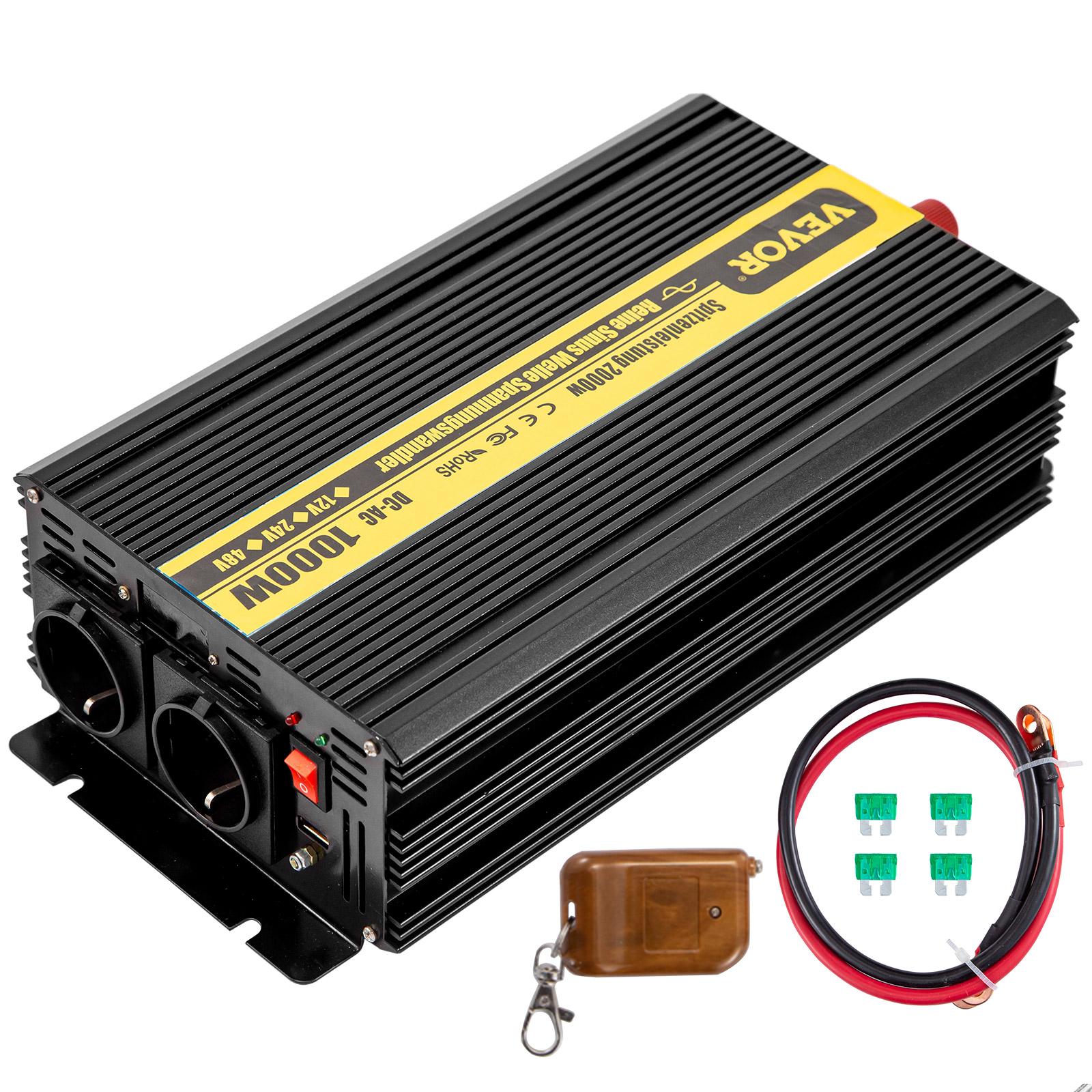 2000W 4000W Wechselrichter Reiner Sinus 12V 24V 48V 220V 230V Spannungswandler
