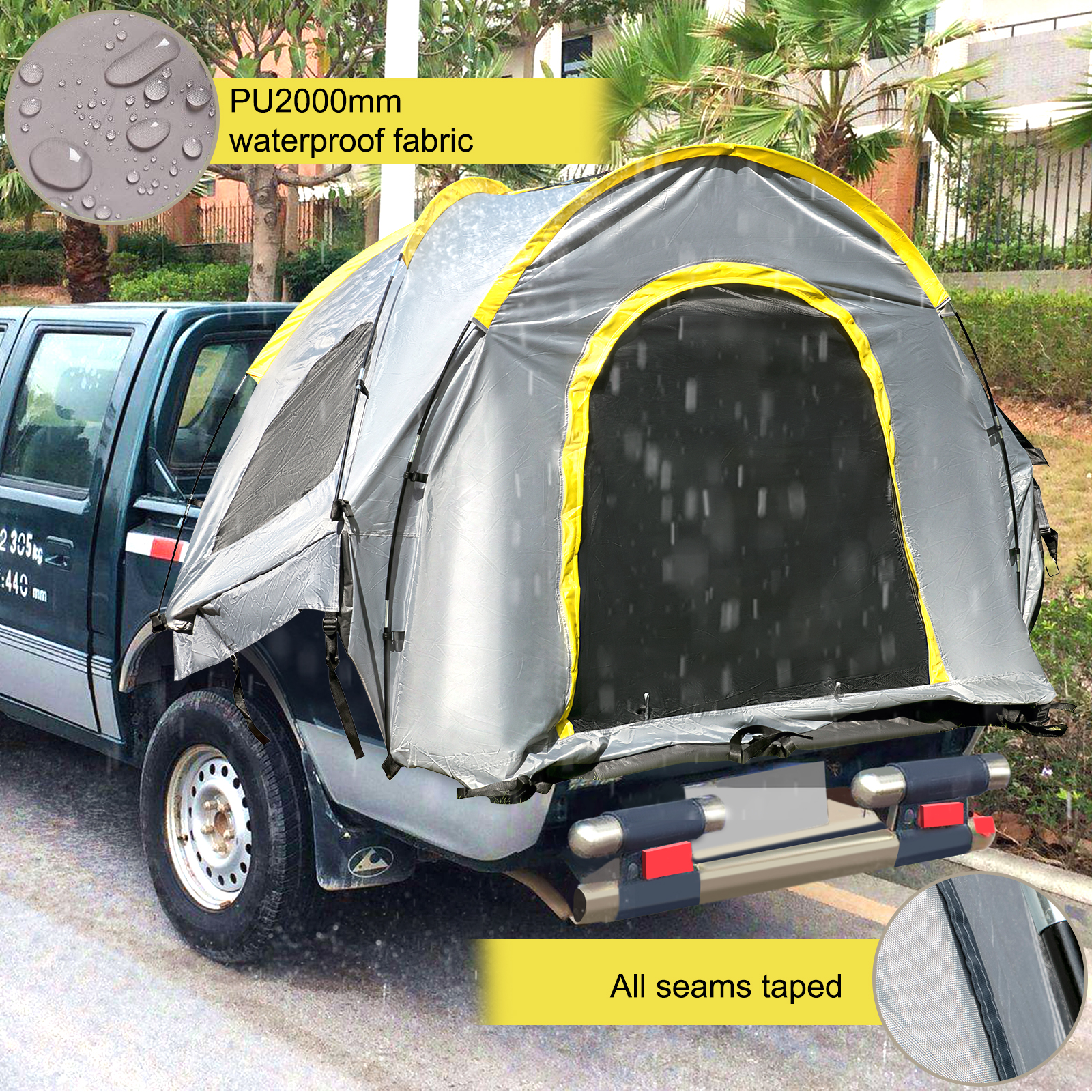 thumbnail 4 - VEVOR Truck Tent Truck Bed Tent 5' - 8' Pickup Tent Waterproof Outdoor Camping