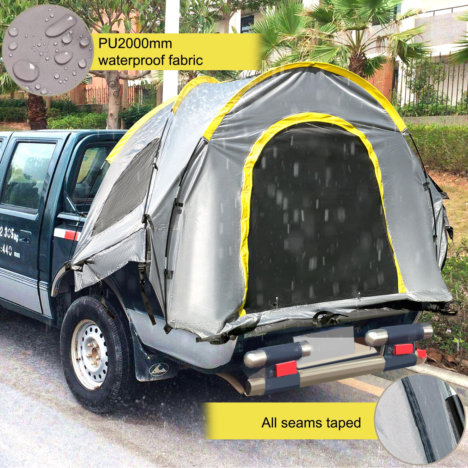 thumbnail 28 - VEVOR Truck Tent Truck Bed Tent 5' - 8' Pickup Tent Waterproof Outdoor Camping