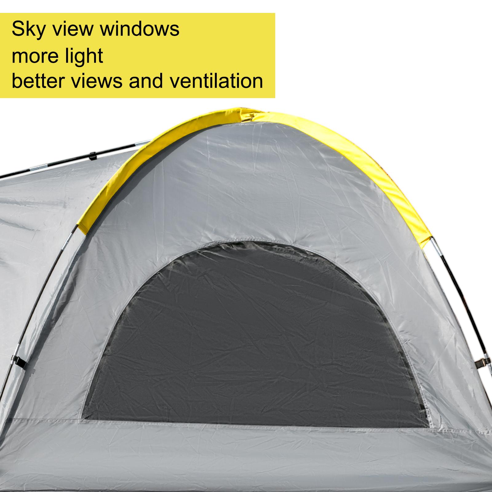 thumbnail 31 - VEVOR Truck Tent Truck Bed Tent 5' - 8' Pickup Tent Waterproof Outdoor Camping