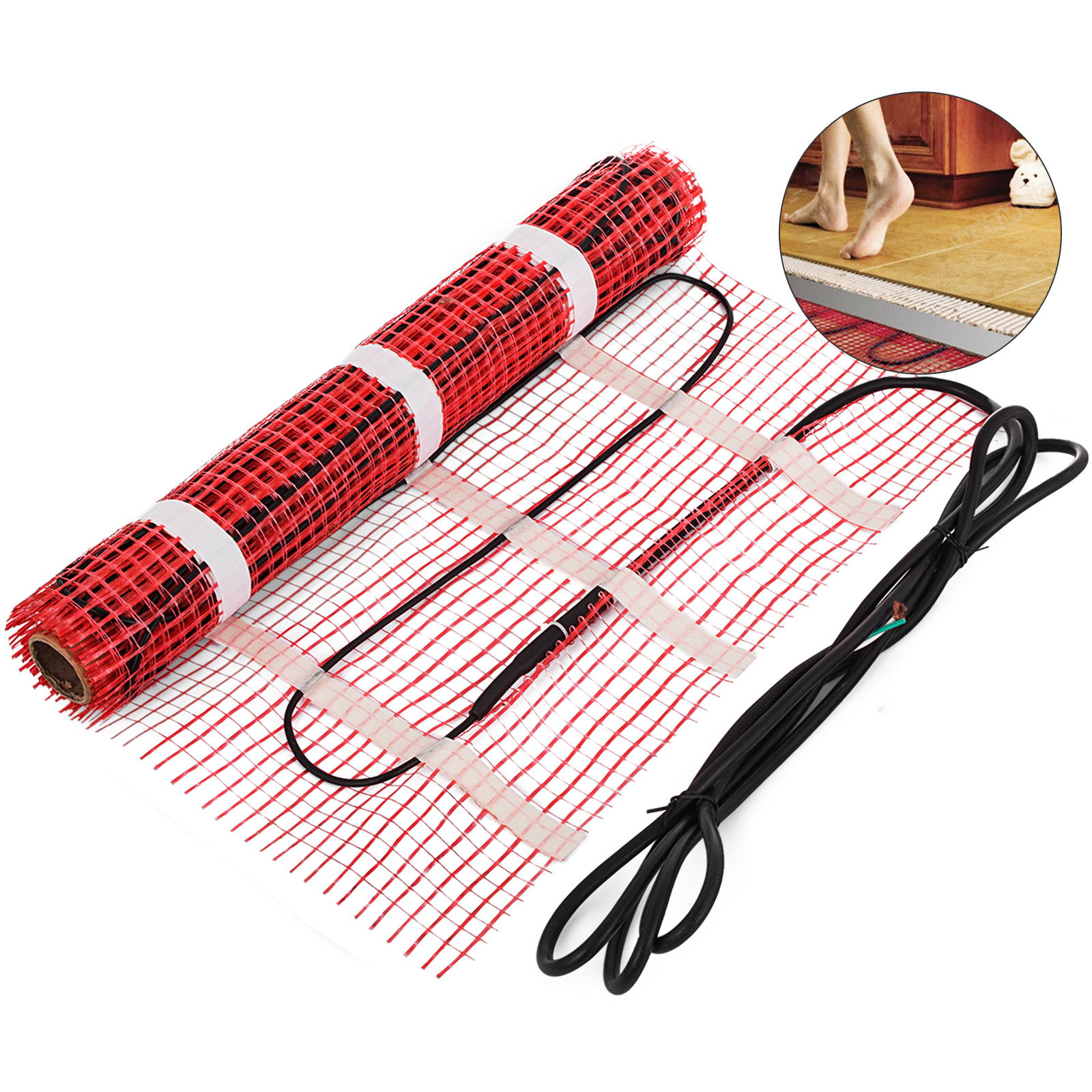 Electric Under Floor Heating Mat Tile Radiant Warm System