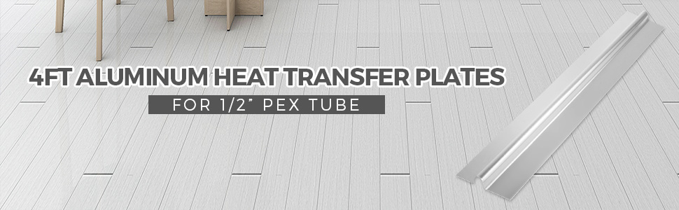 "Aluminum Radiant Floor Heat Transfer Plates for 3//8/"" PEX Tubing 4ft 50pcs"
